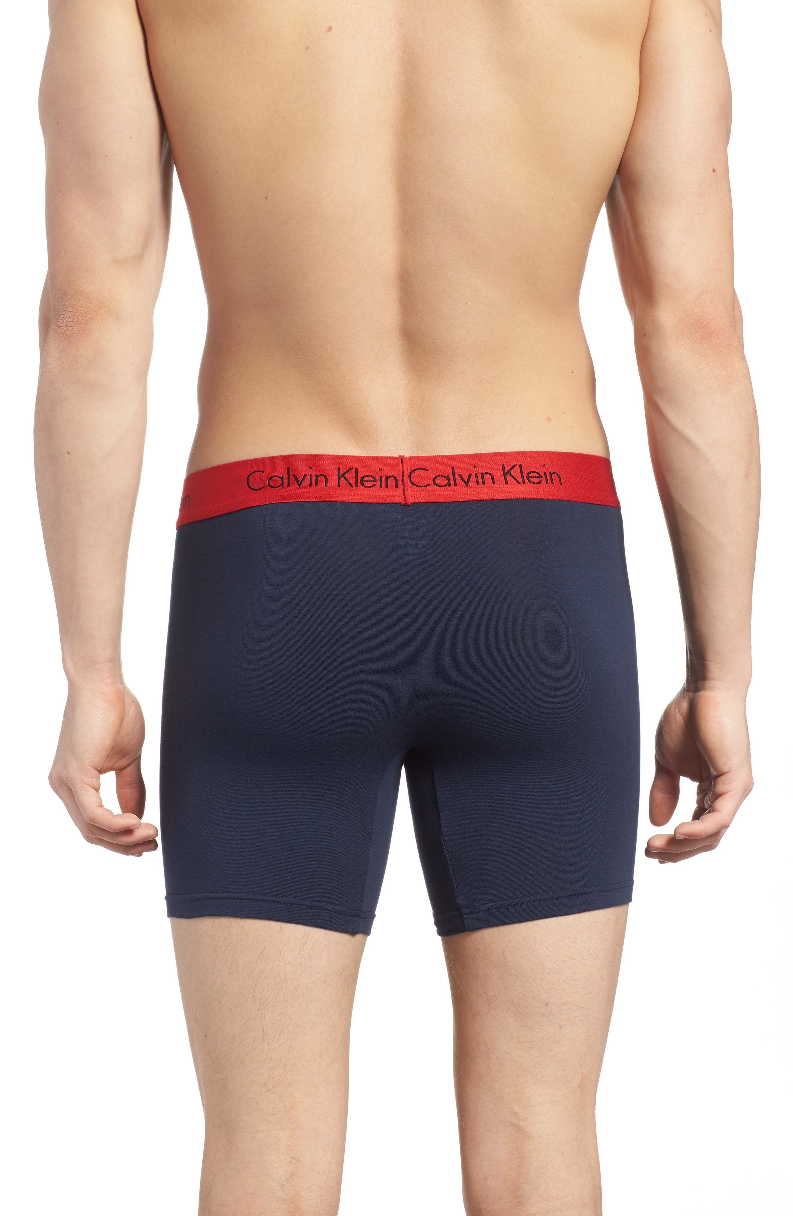 3-Pack Boxer Briefs,                             Alternate thumbnail 3, color,                             Black/ Grey/ Blue/ Red Band
