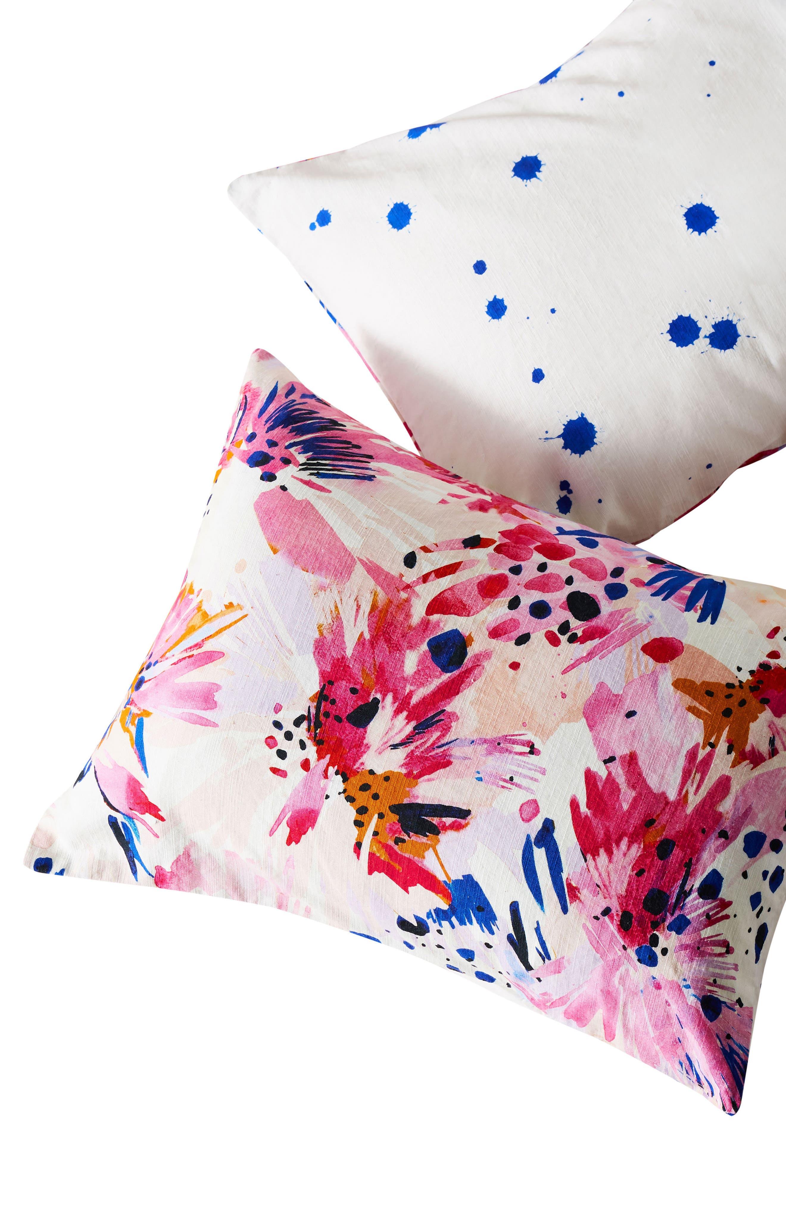 x Lillian Farag Floral Set of Shams,                             Alternate thumbnail 3, color,                             Pink Multi