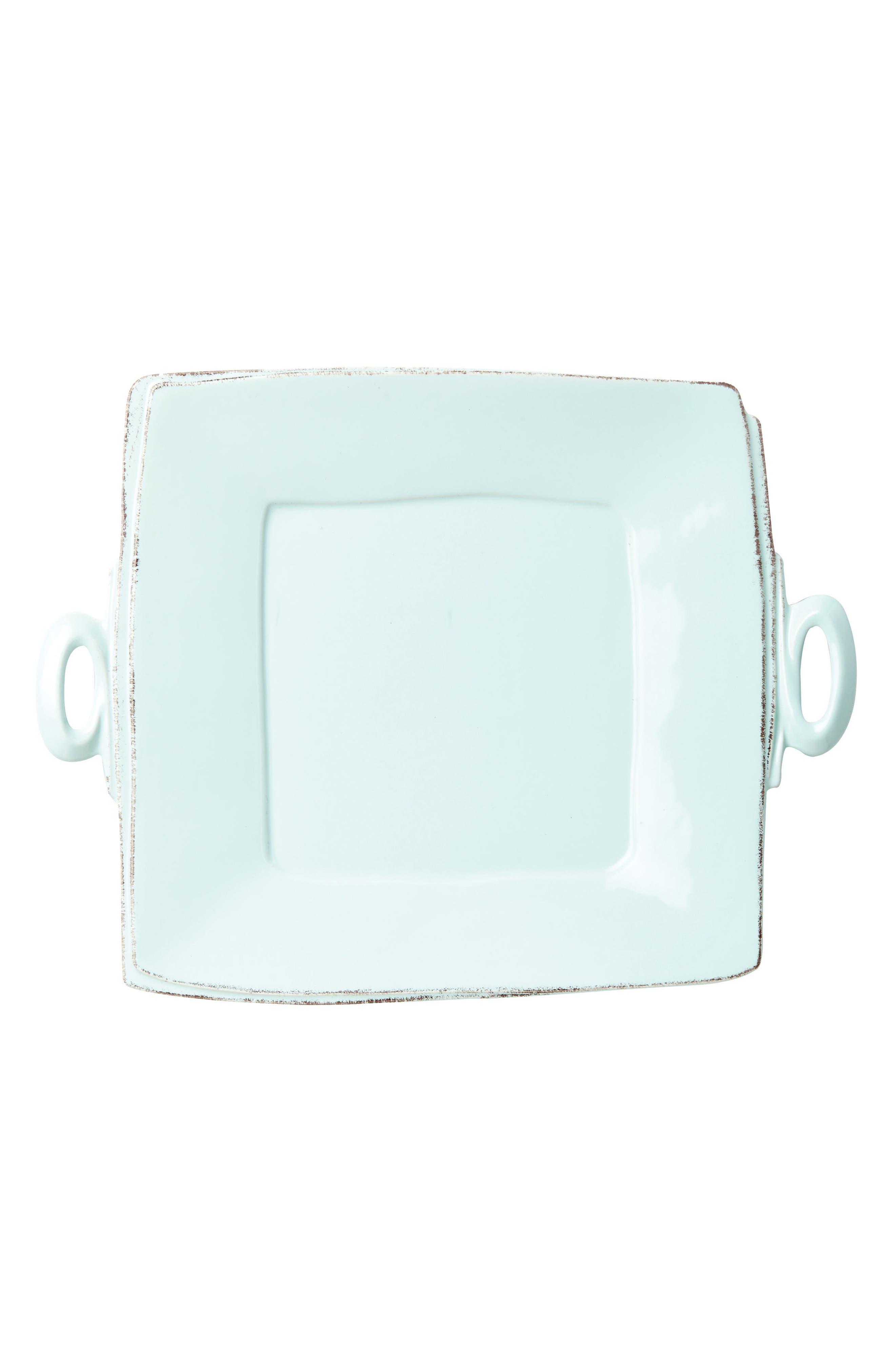 Lastra Square Platter,                             Main thumbnail 1, color,                             Aqua