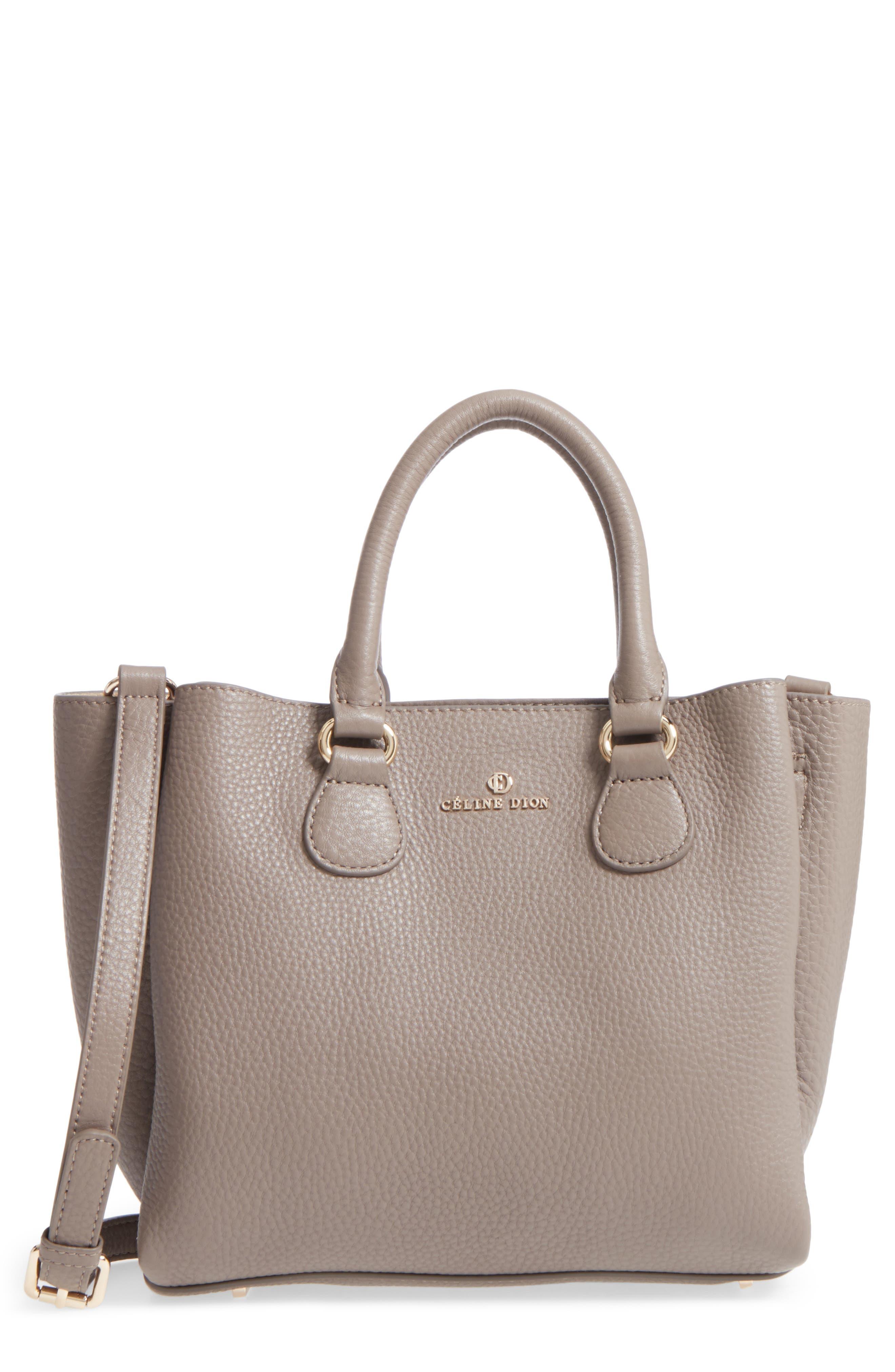Céline Dion Small Adagio Leather Satchel,                         Main,                         color, Taupe