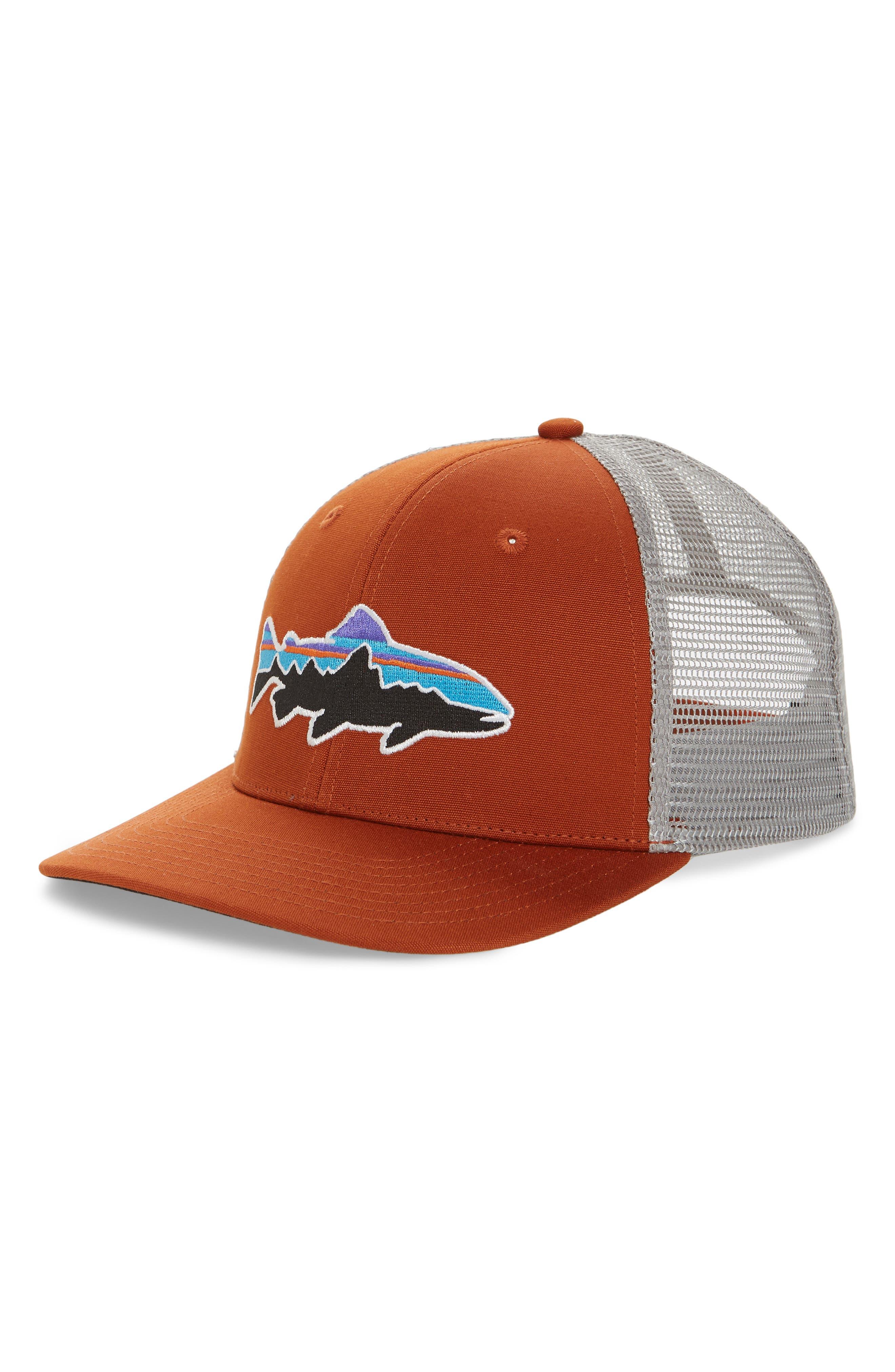 'Fitz Roy - Trout' Trucker Hat,                         Main,                         color, Copper Ore