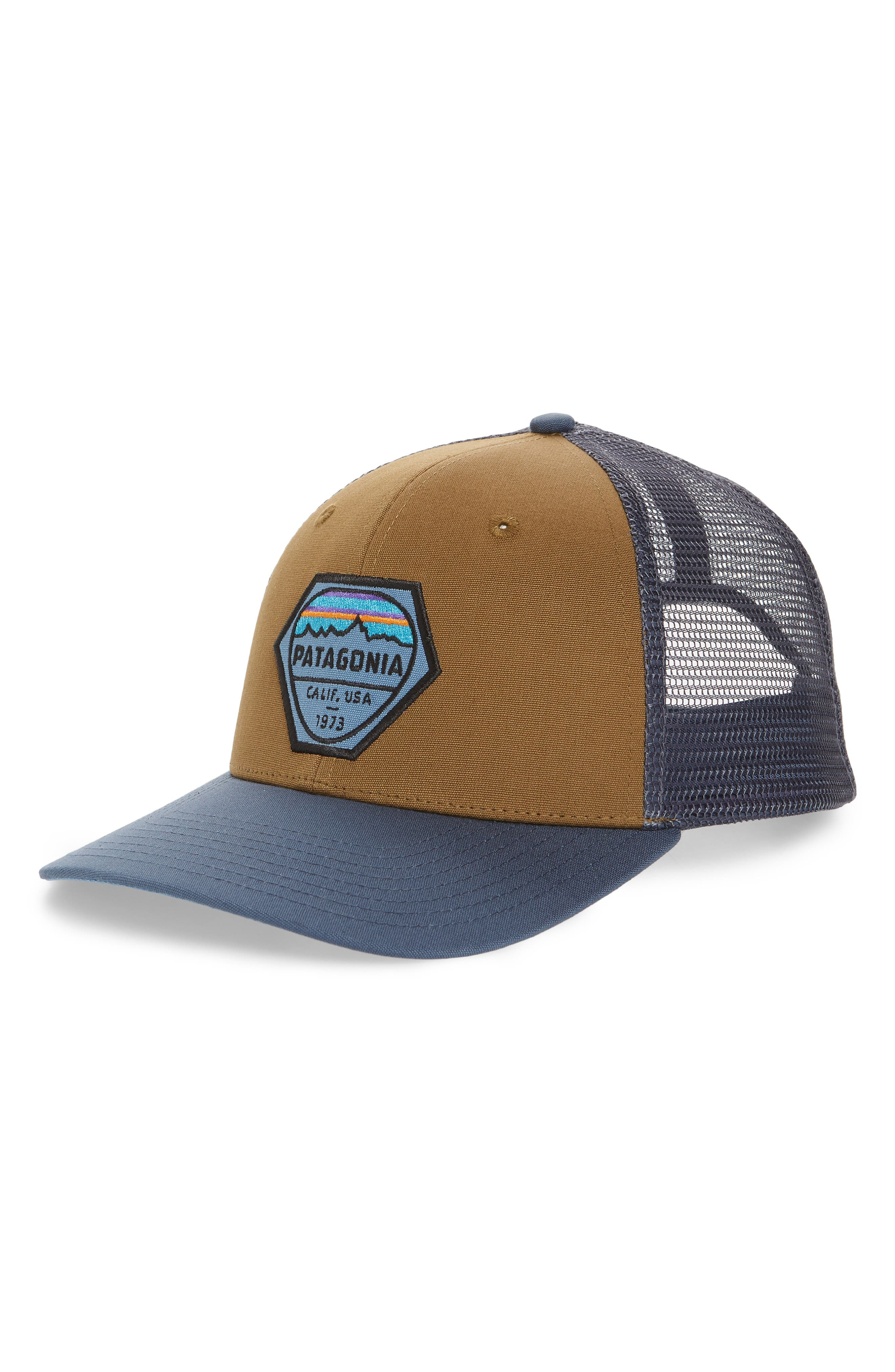 Style Name  Patagonia Fitz Roy Hex Trucker Cap. Style Number  5466828.  Available in stores. b70bb2d68522