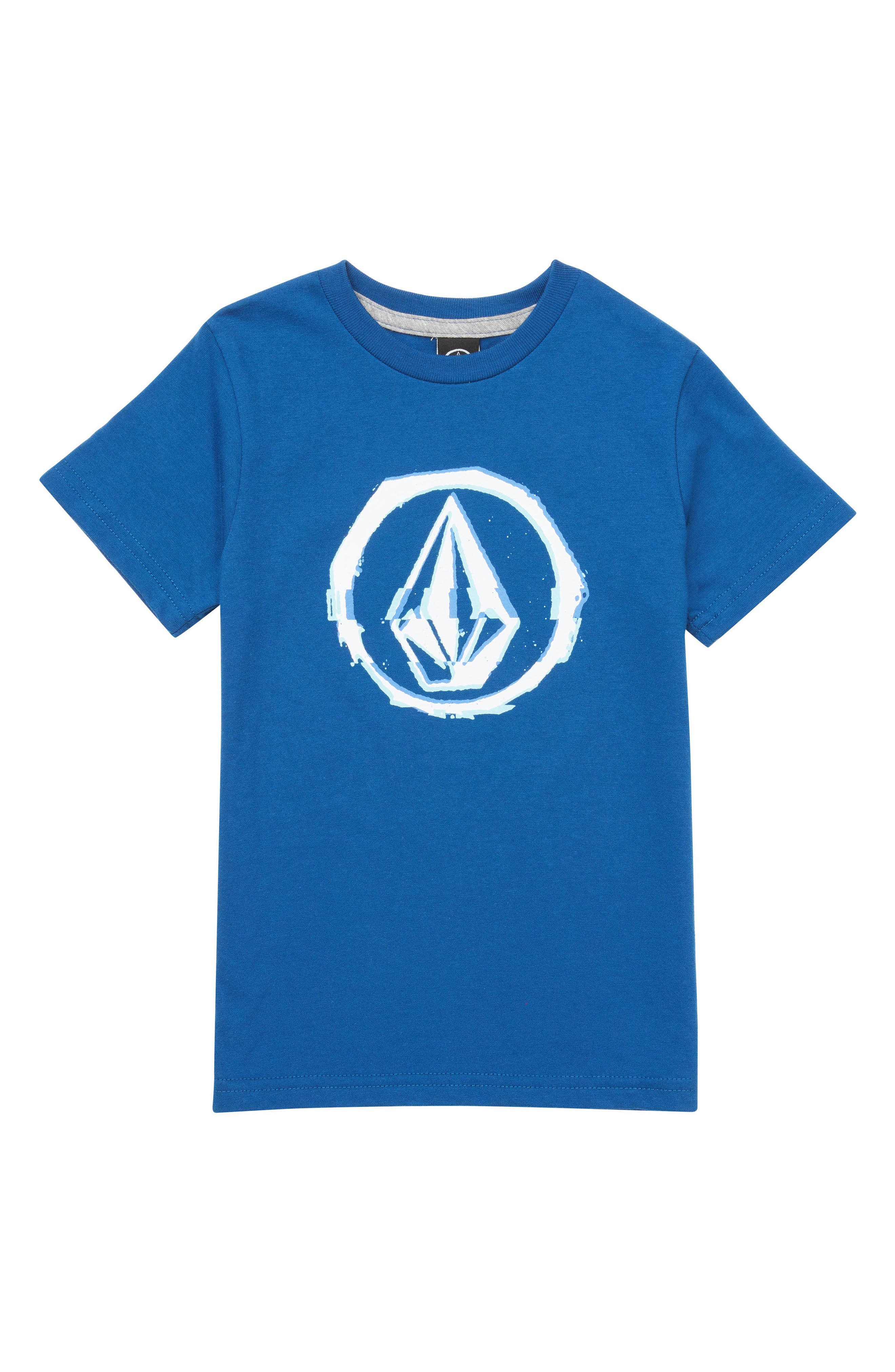 Glitchy Graphic T-Shirt,                         Main,                         color, Camper Blue