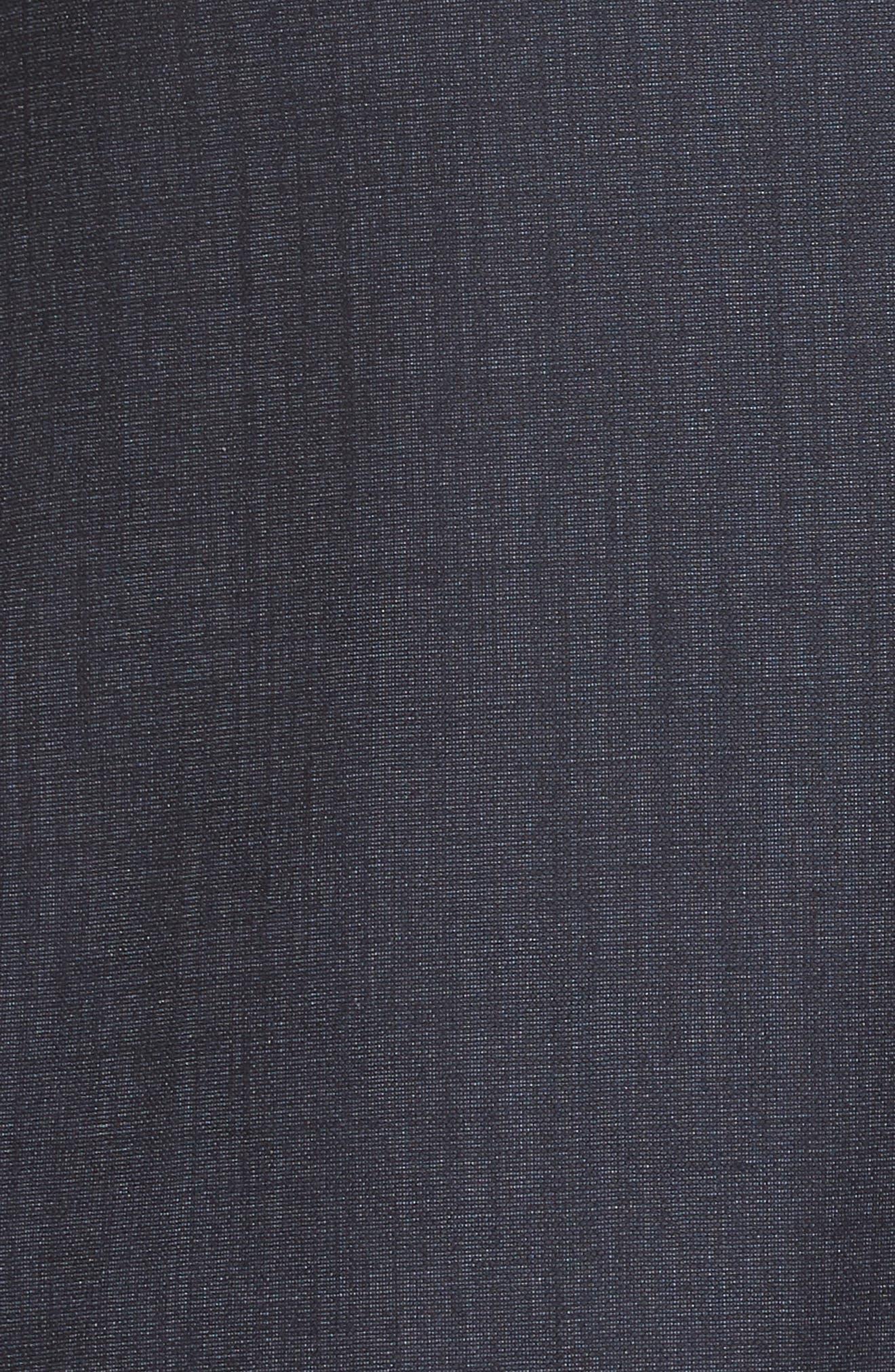 Trim Fit Solid Wool & Silk Suit,                             Alternate thumbnail 7, color,                             Navy