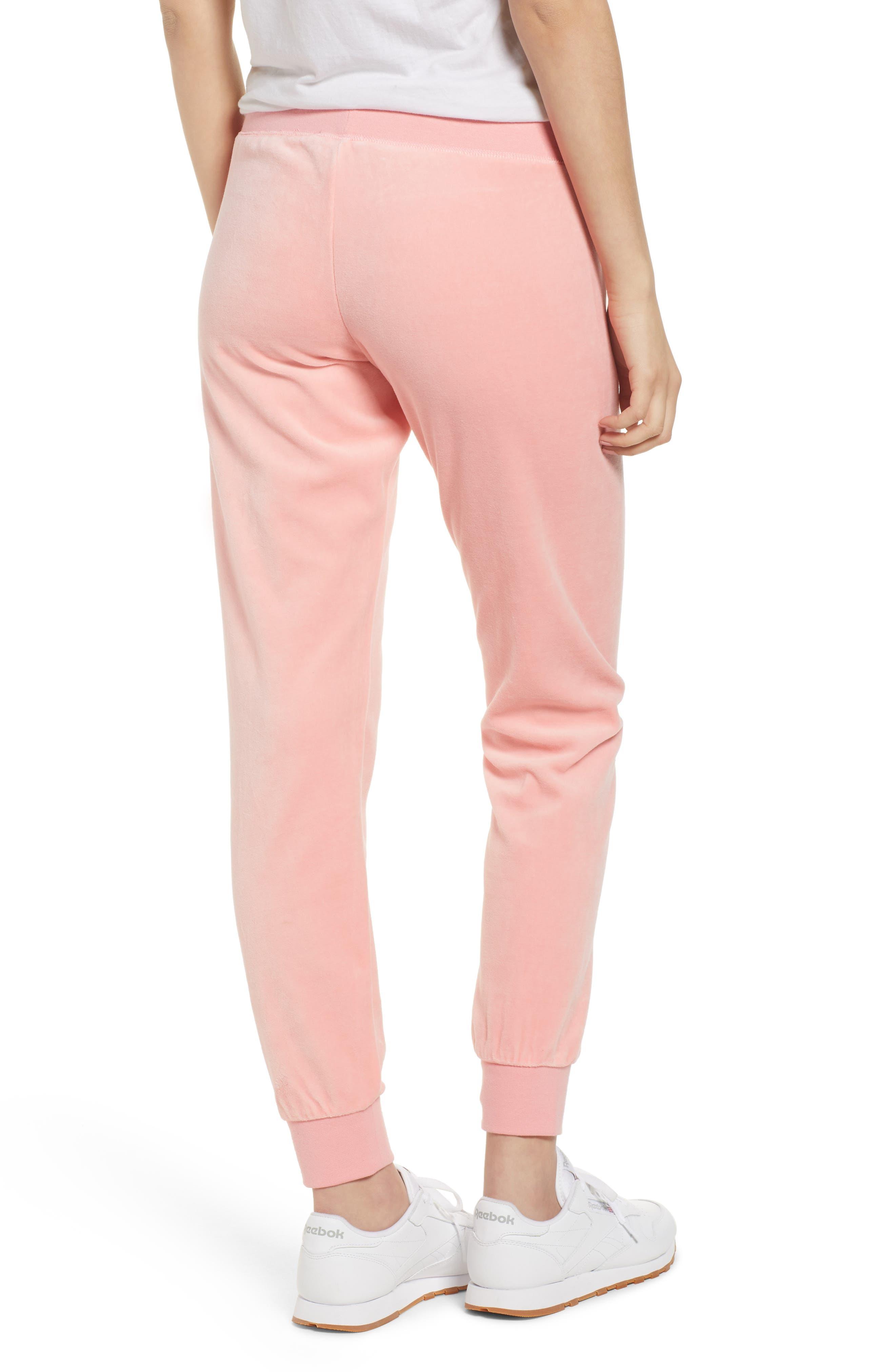 Zuma Velour Track Pants,                             Alternate thumbnail 2, color,                             Sorbet Pink