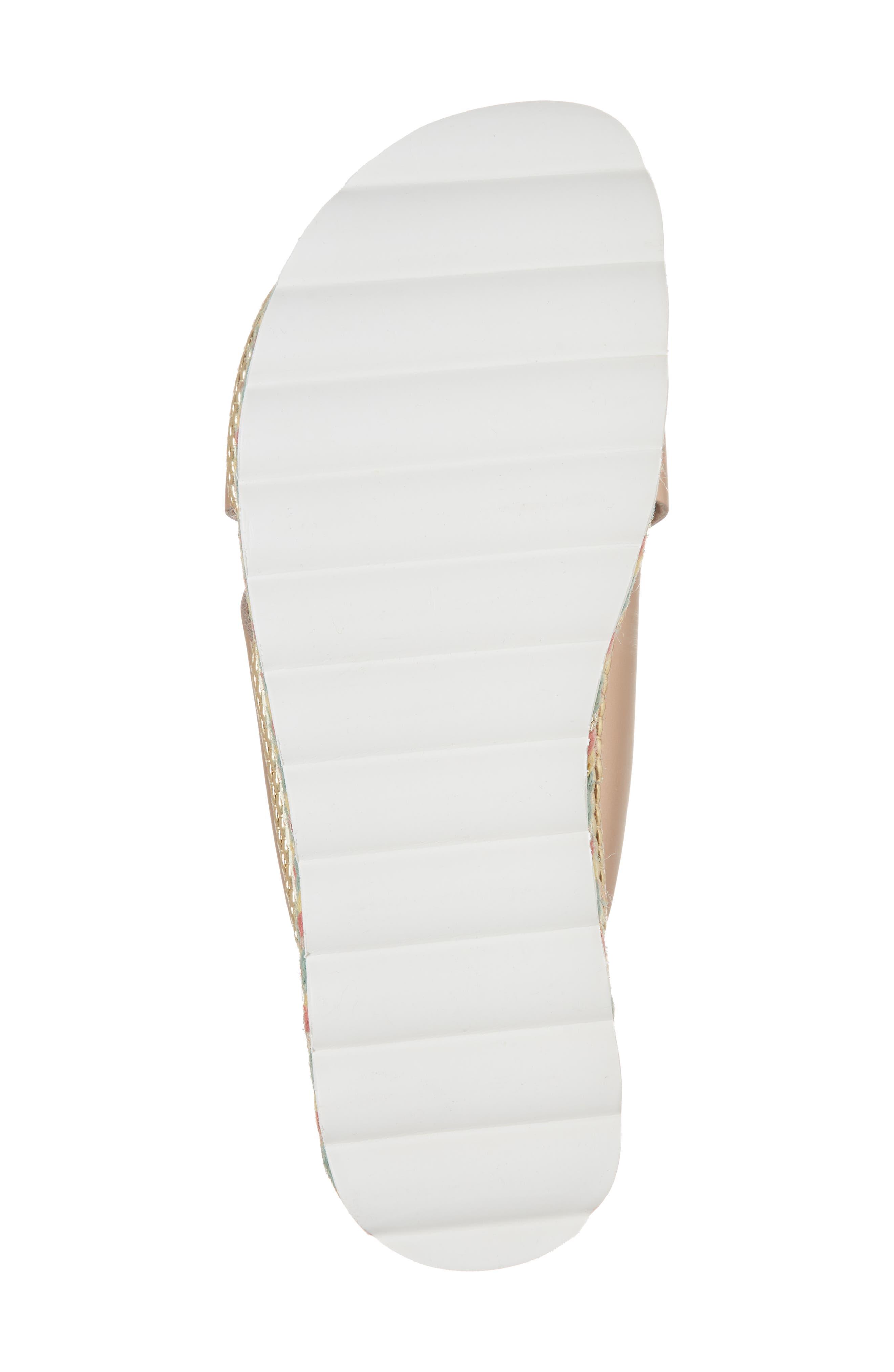 Torri Platform Slide Sandal,                             Alternate thumbnail 6, color,                             Rose Gold Leather