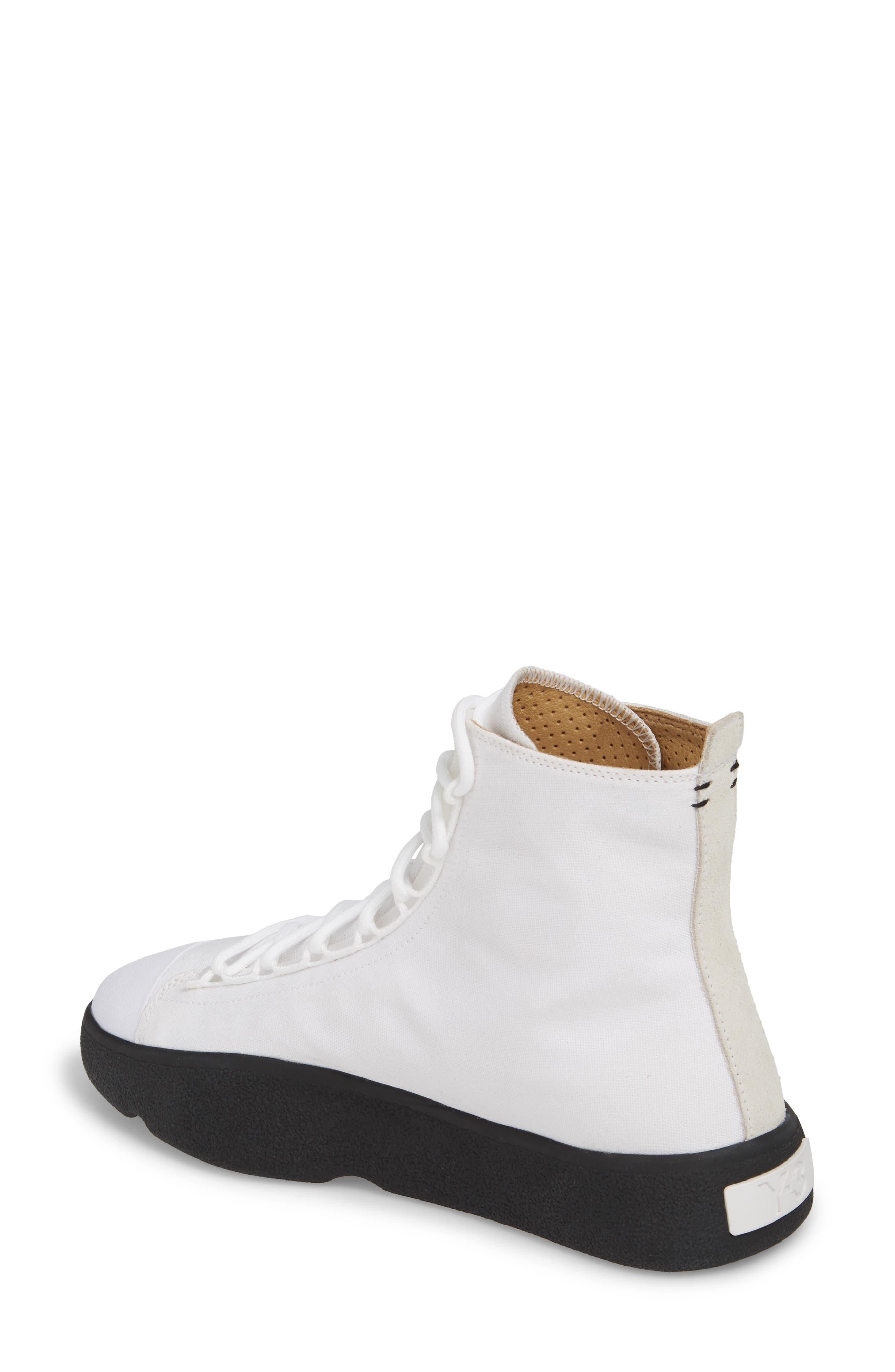 Bashyo High Top Sneaker,                             Alternate thumbnail 2, color,                             White/ Black