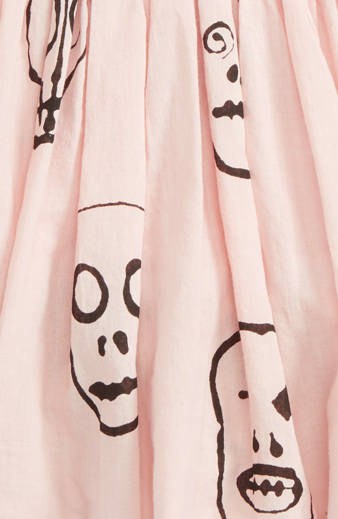 Skull Mask Balloon Skirt,                             Alternate thumbnail 2, color,                             Powder Pink