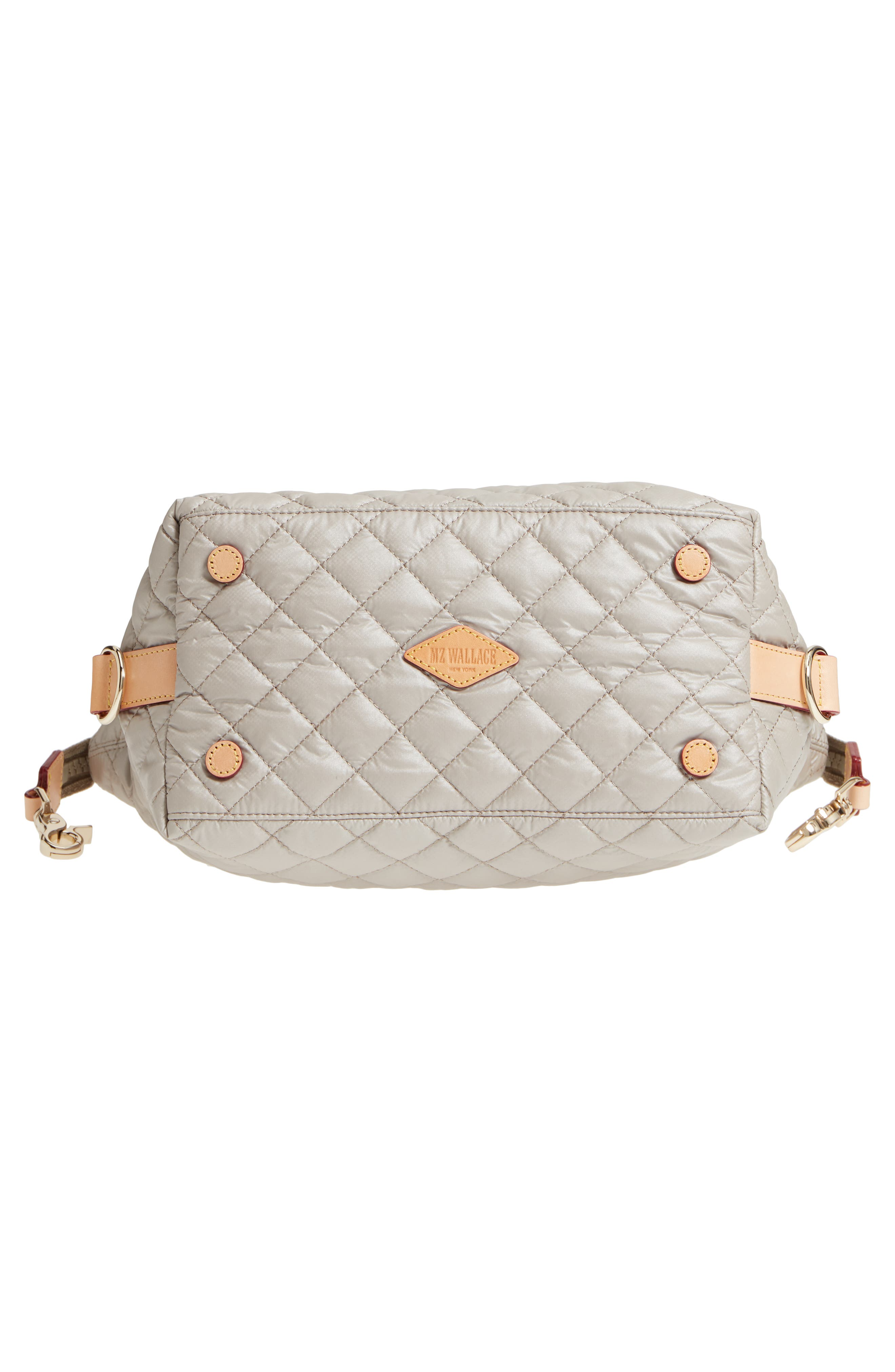 Small Sutton Quilted Oxford Nylon Tote,                             Alternate thumbnail 6, color,                             Atmosphere Metallic