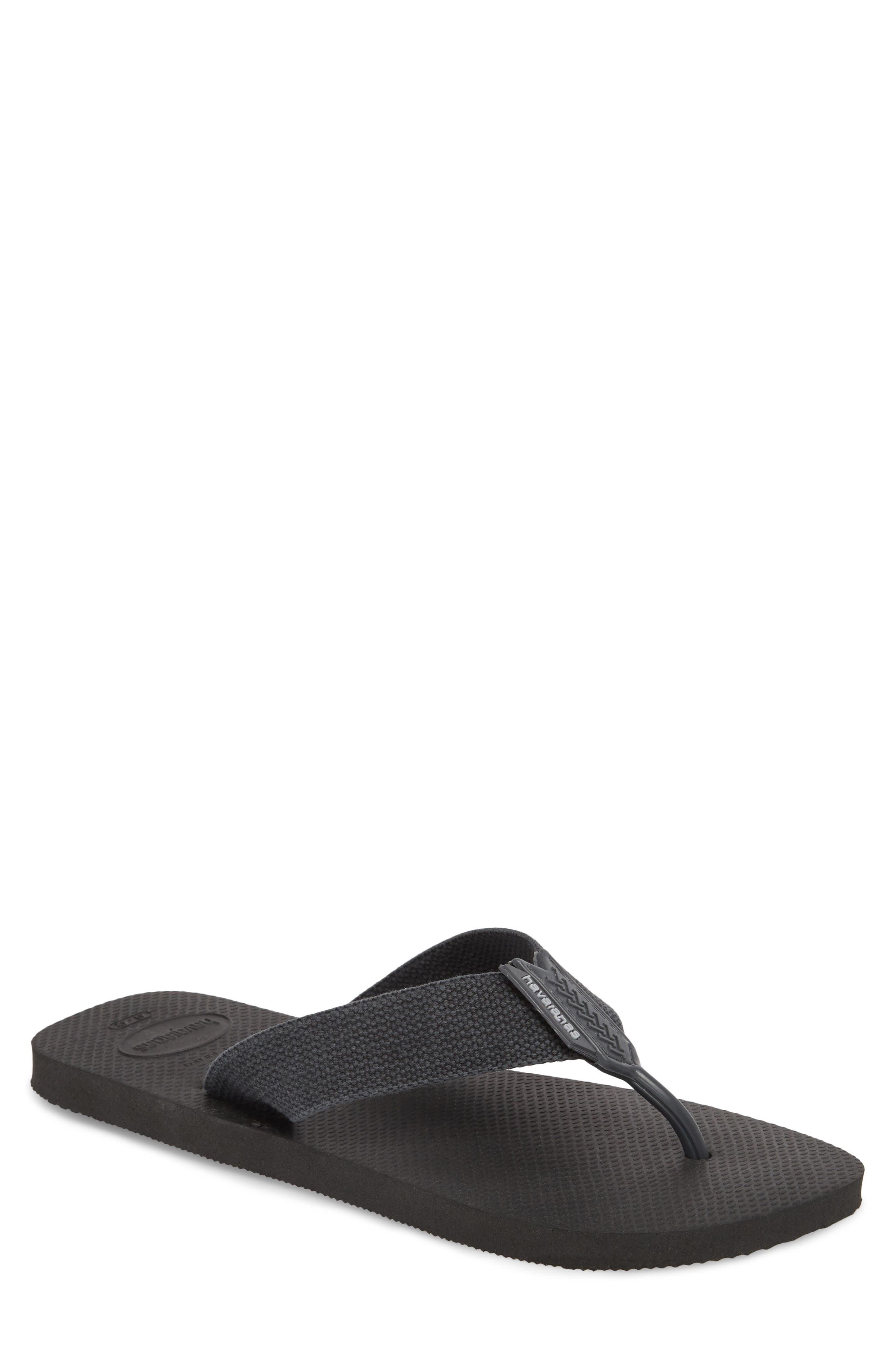 Havianas 'Urban Basic' Flip Flop,                         Main,                         color, Black/ Grey