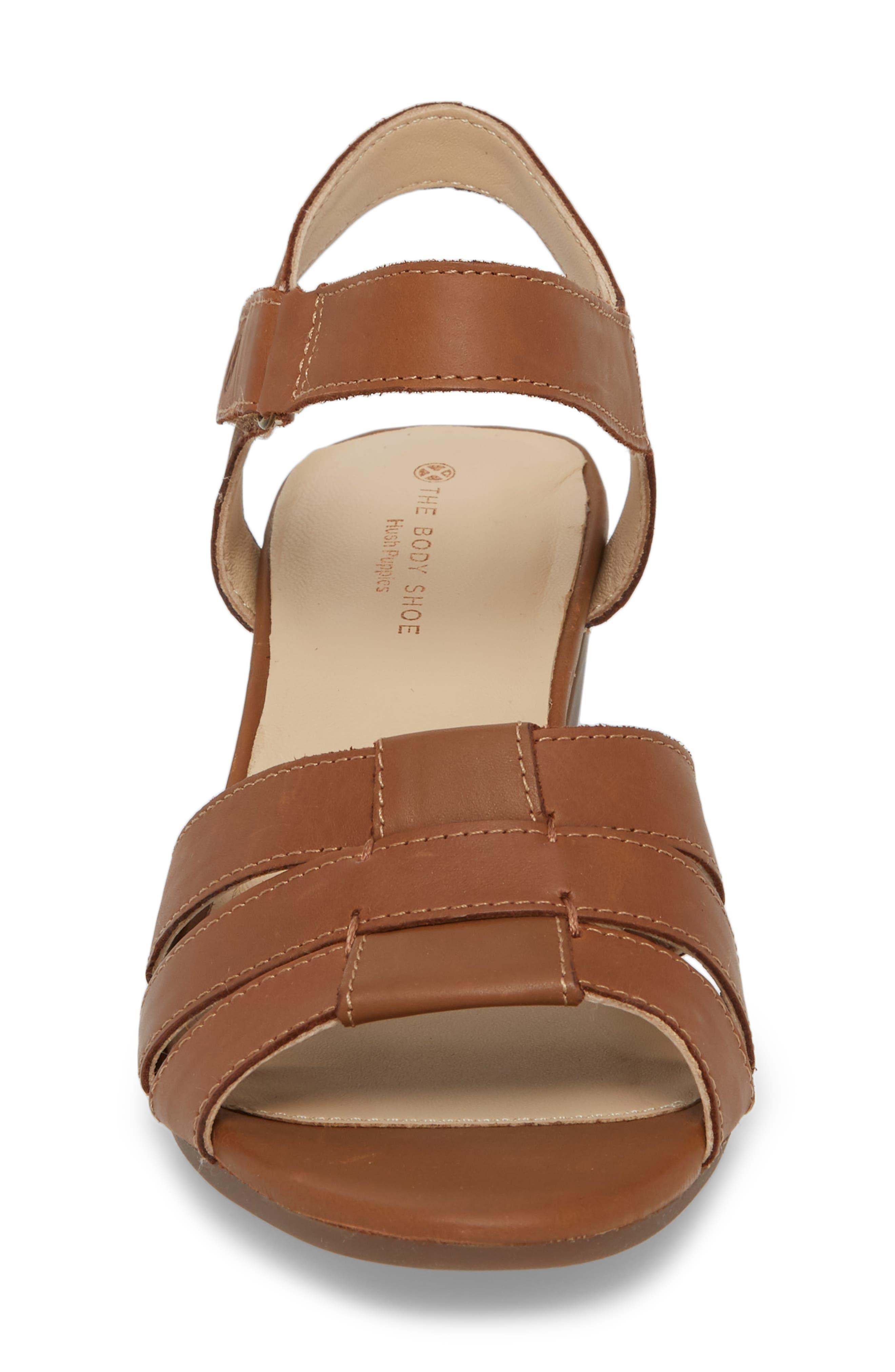 Masseter Quarter Strap Sandal,                             Alternate thumbnail 4, color,                             Tan Leather