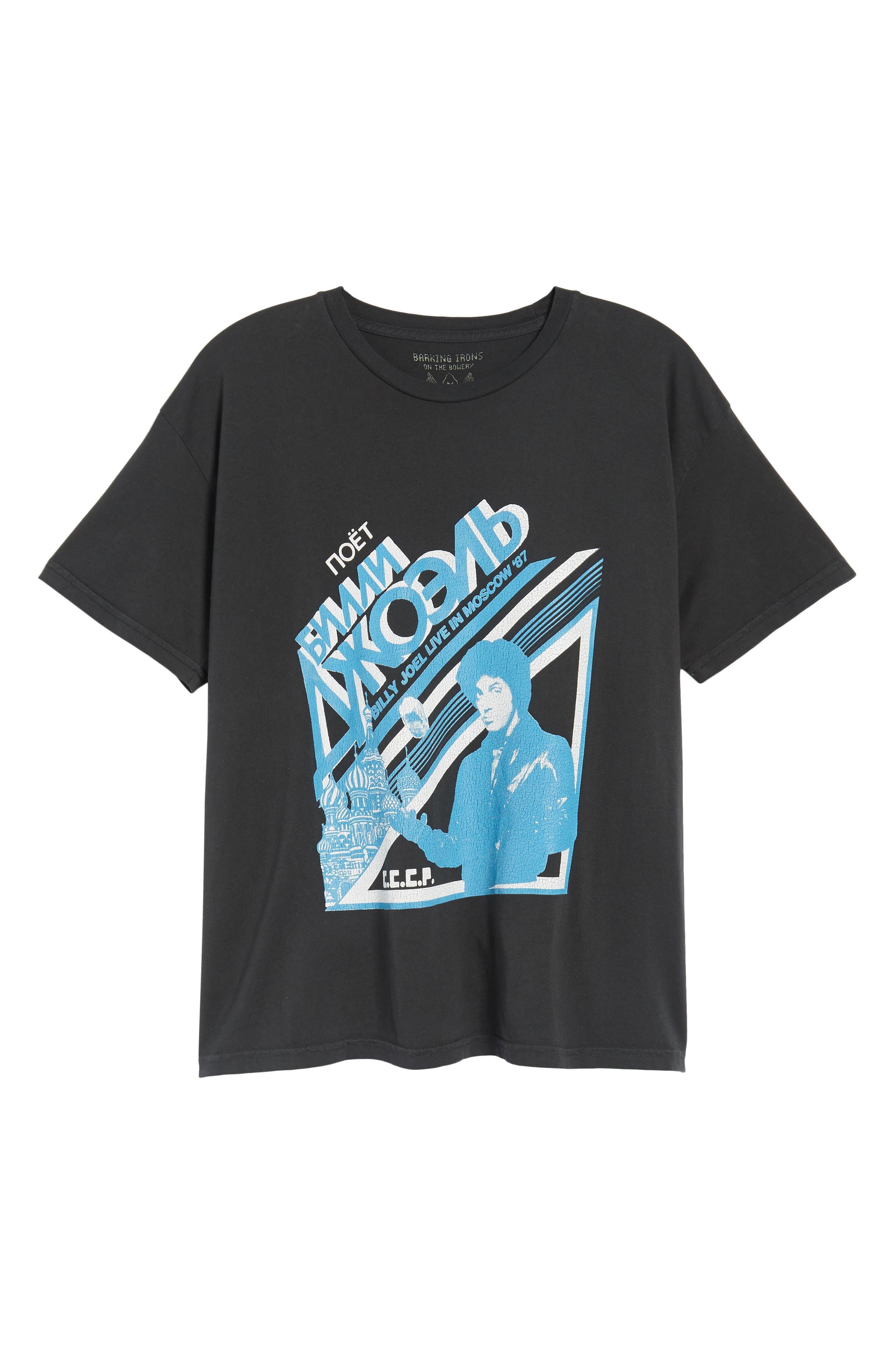 Billy Joel Moscow T-Shirt,                             Alternate thumbnail 6, color,                             Dusty Black