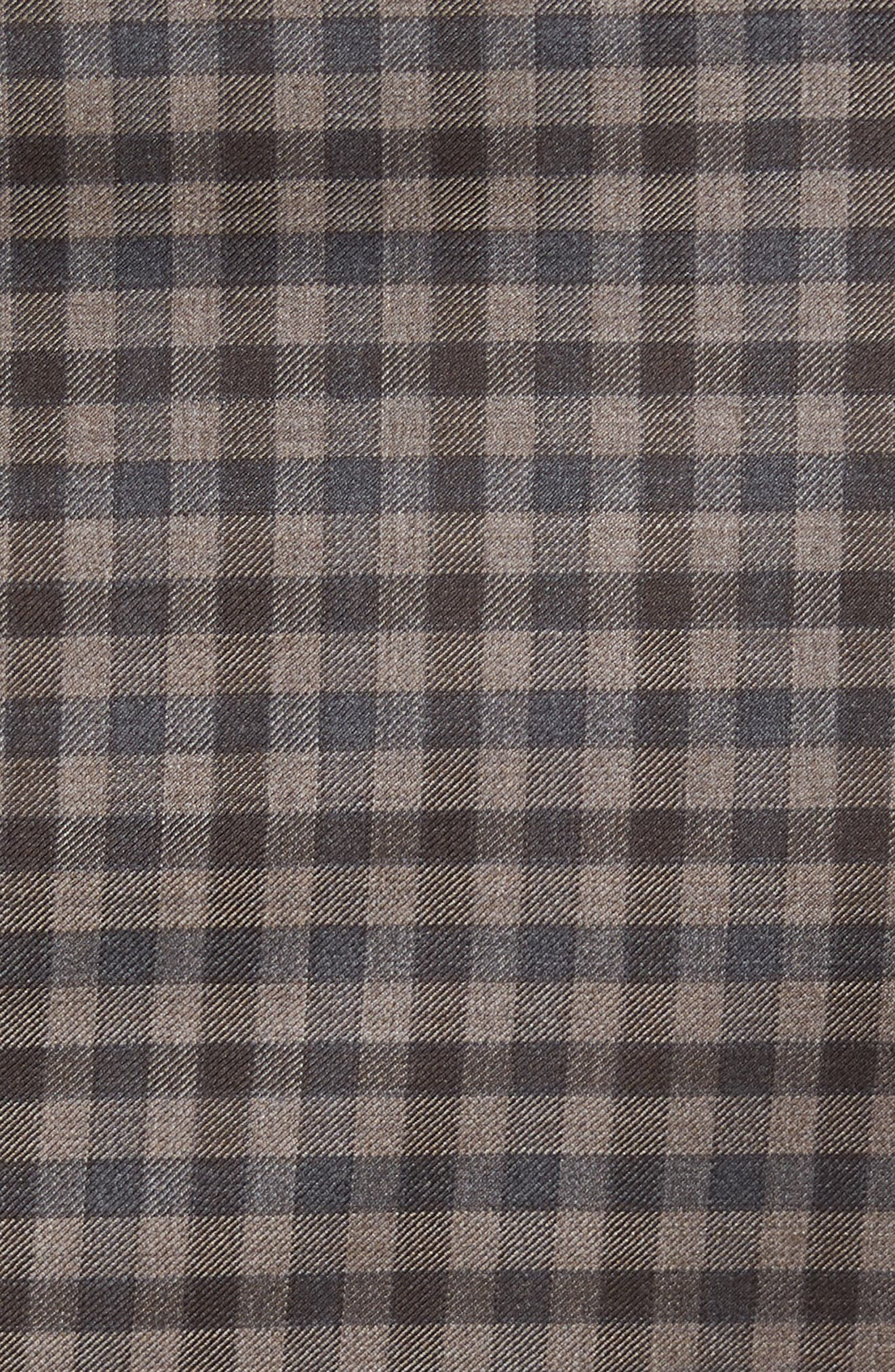 Classic Fit Check Wool Sport Coat,                             Alternate thumbnail 5, color,                             Brown/Grey