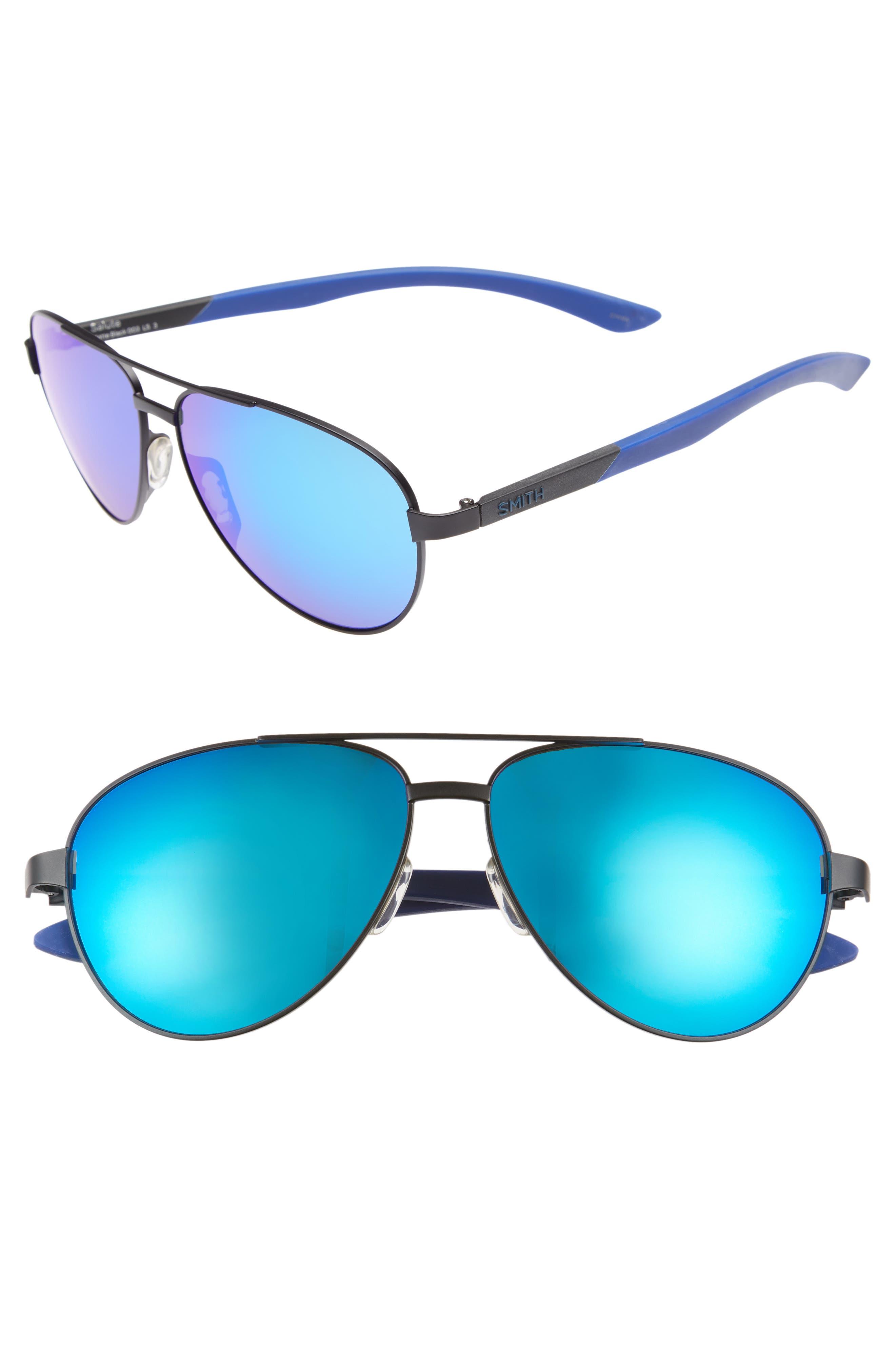 Salute 59mm Aviator Sunglasses,                             Main thumbnail 1, color,                             Matte Black