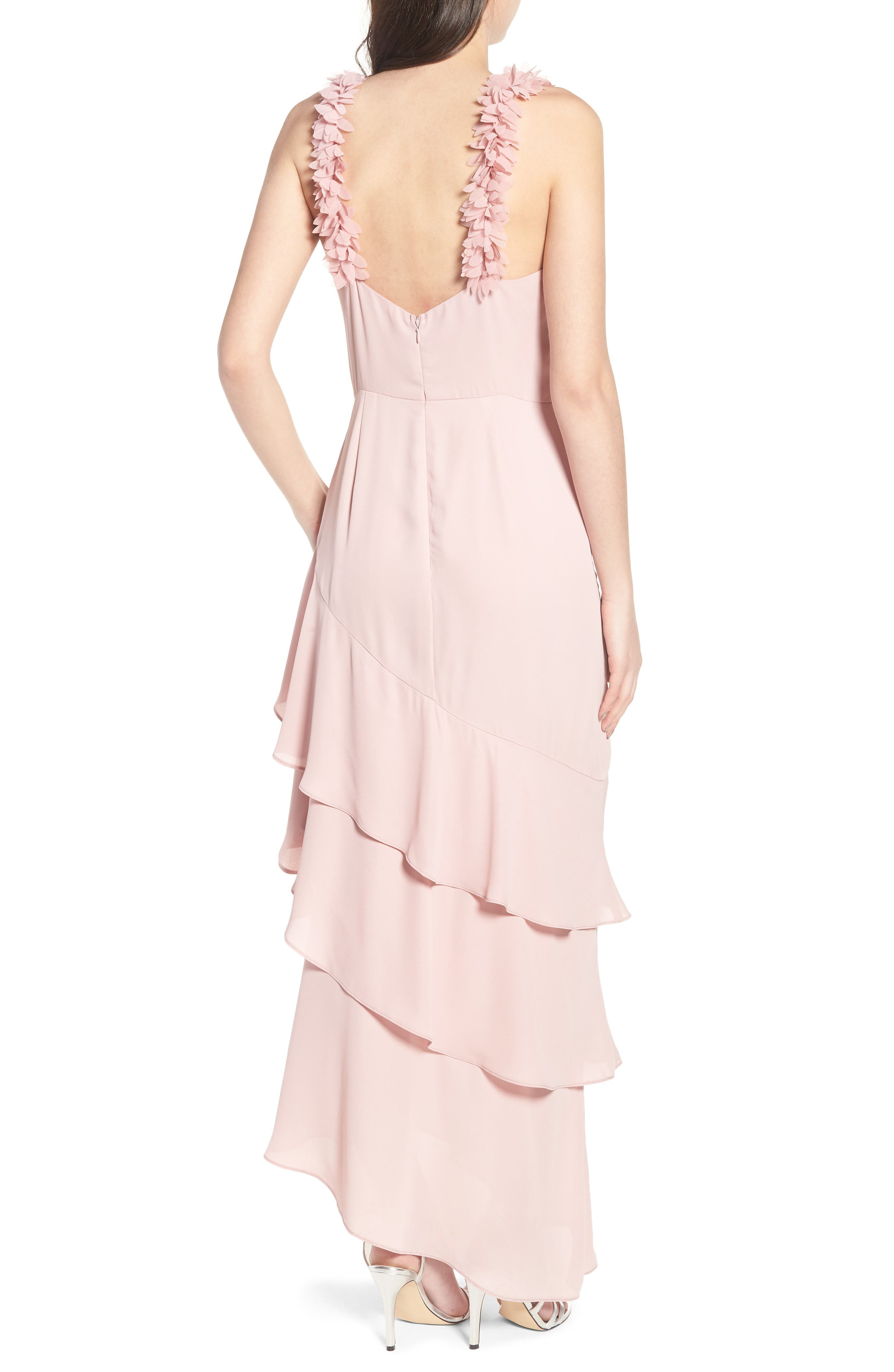 Alternate Image 2  - LOST INK Ruffled Asymmetrical Maxi Dress