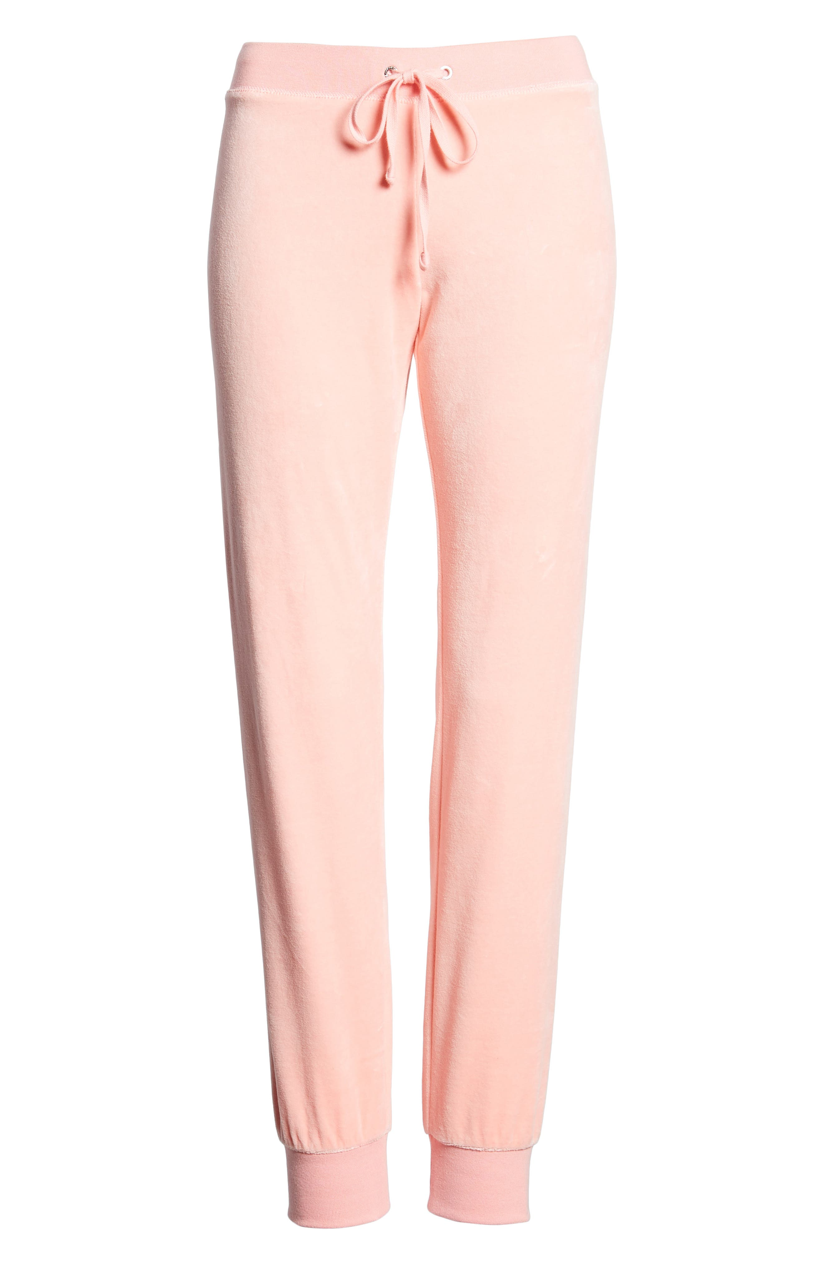 Zuma Velour Track Pants,                             Alternate thumbnail 7, color,                             Sorbet Pink