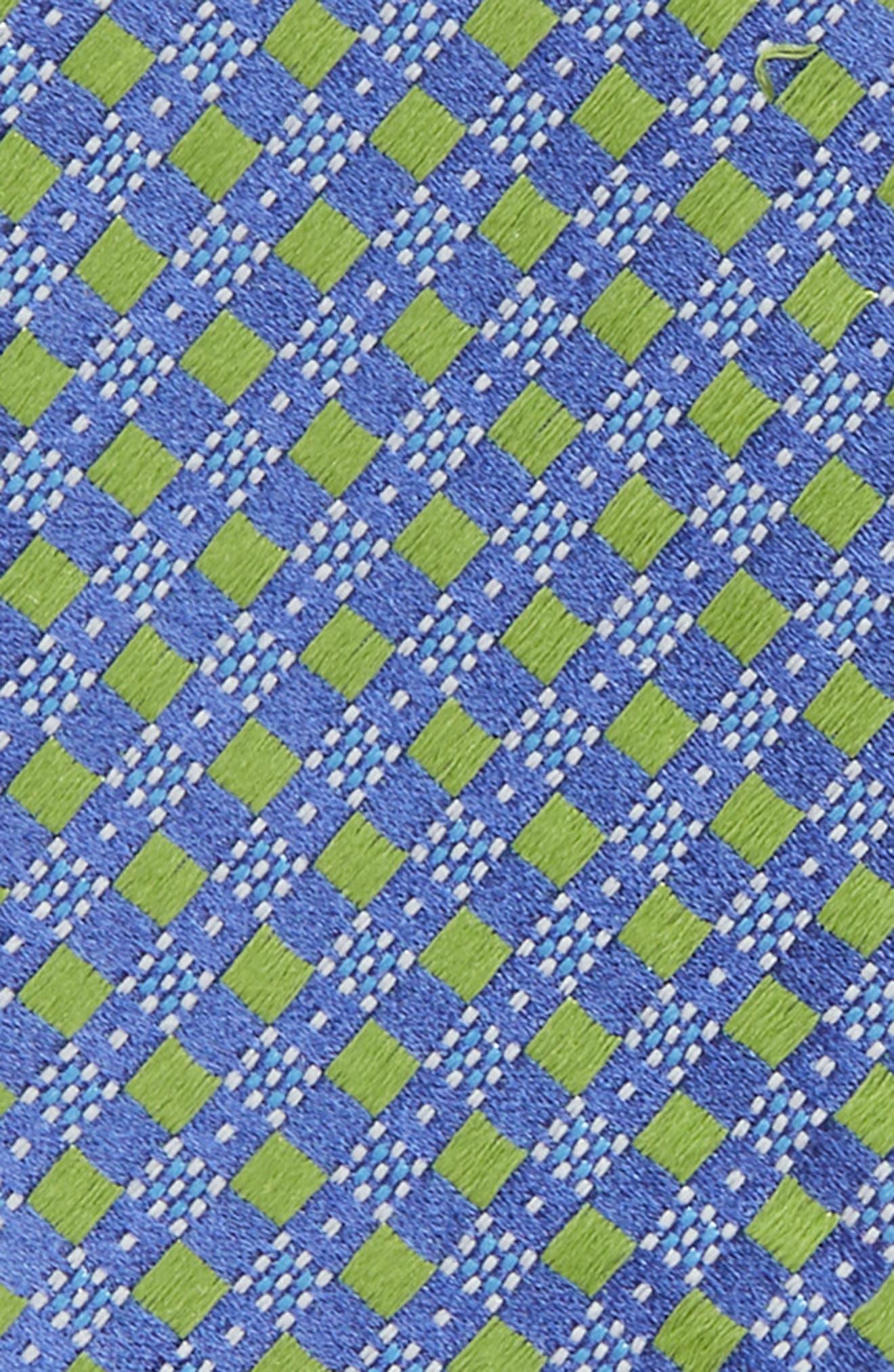 Geometric Silk Bow Tie,                             Alternate thumbnail 3, color,                             Green