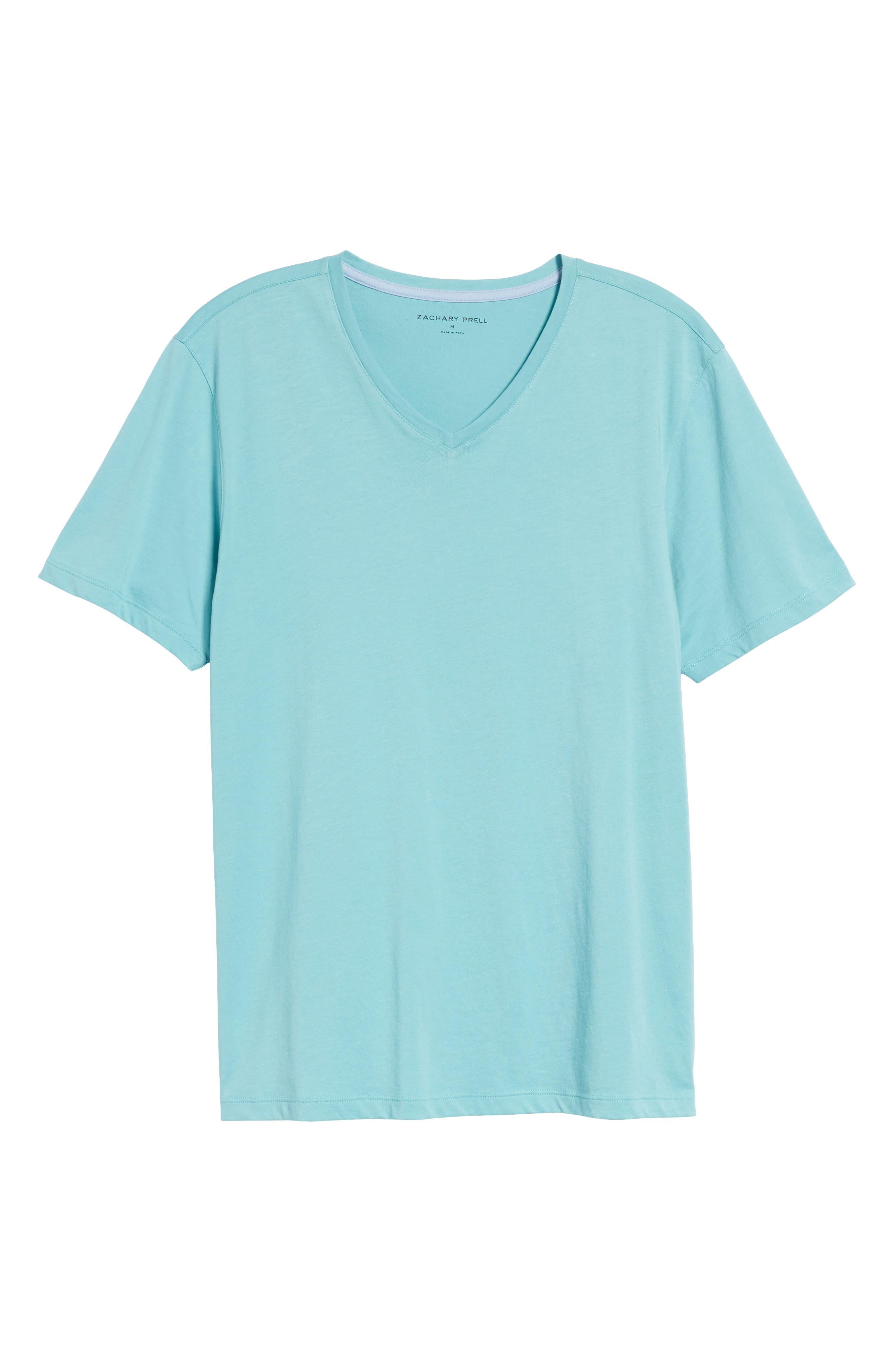 Mercer V-Neck T-Shirt,                             Main thumbnail 1, color,                             Aqua