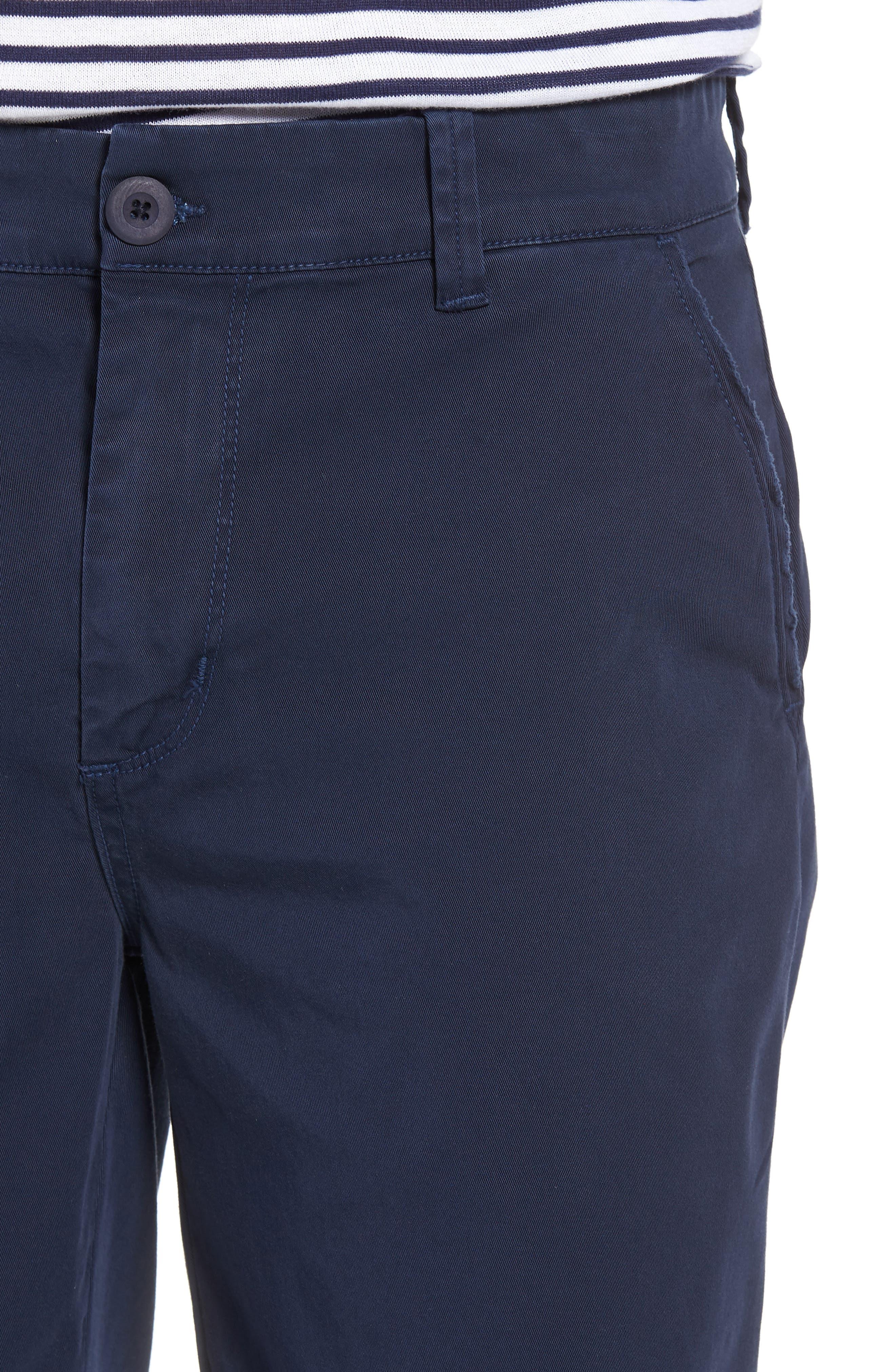 Hudson Clint Chino Shorts,                             Alternate thumbnail 4, color,                             Navy