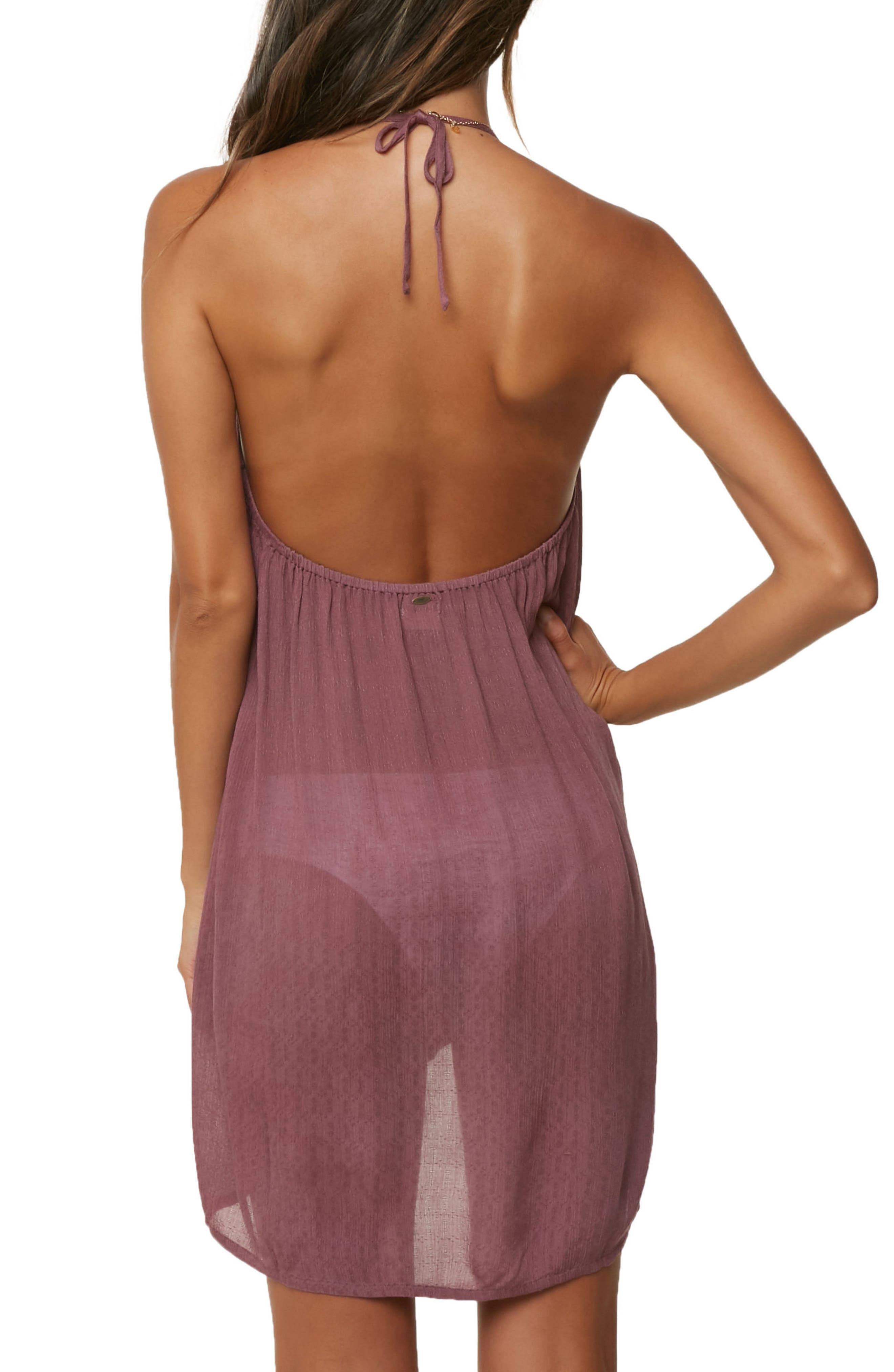 Waimea Cover-Up Halter Dress,                             Alternate thumbnail 2, color,                             Ginger