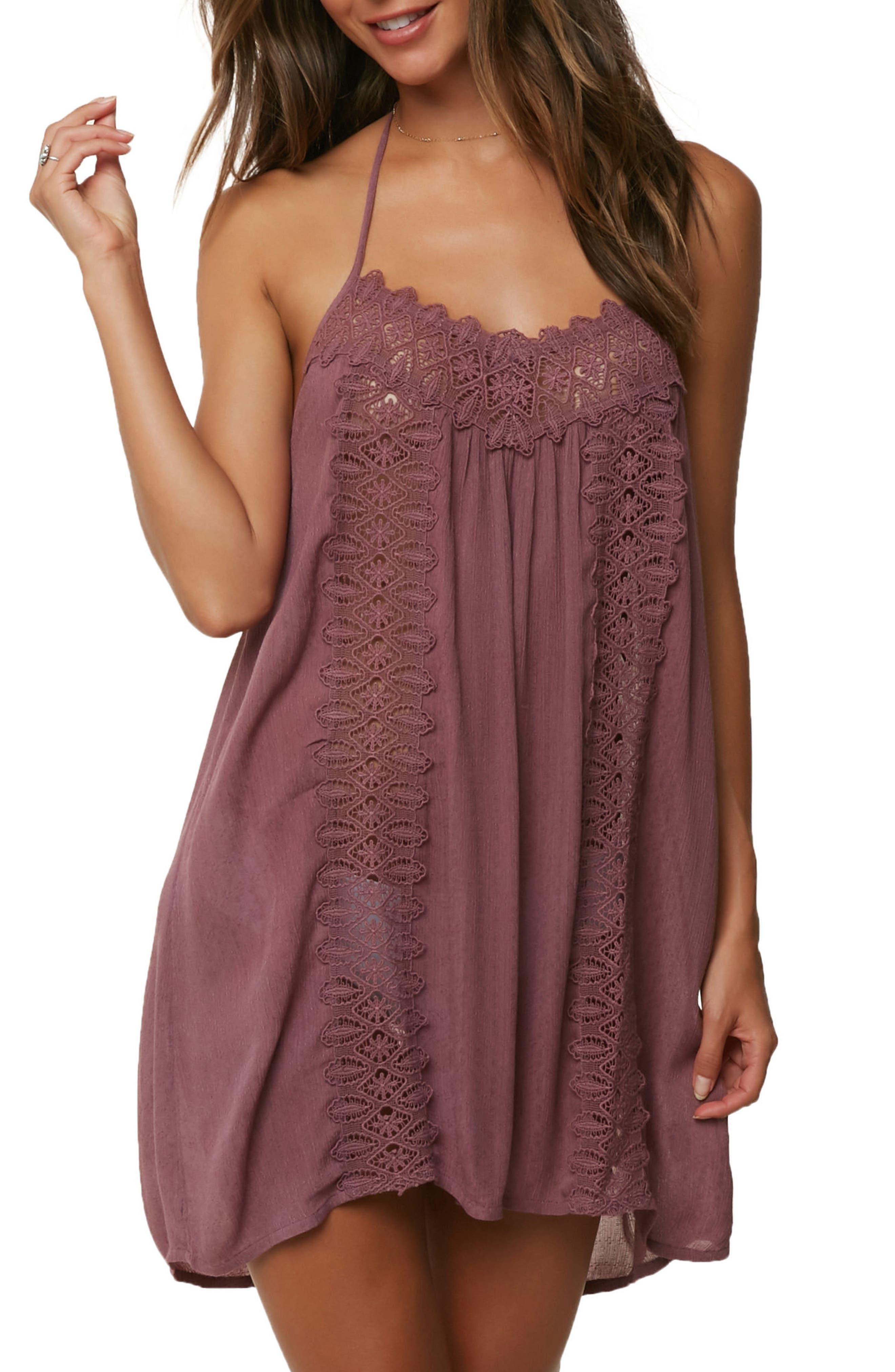 Waimea Cover-Up Halter Dress,                             Main thumbnail 1, color,                             Ginger