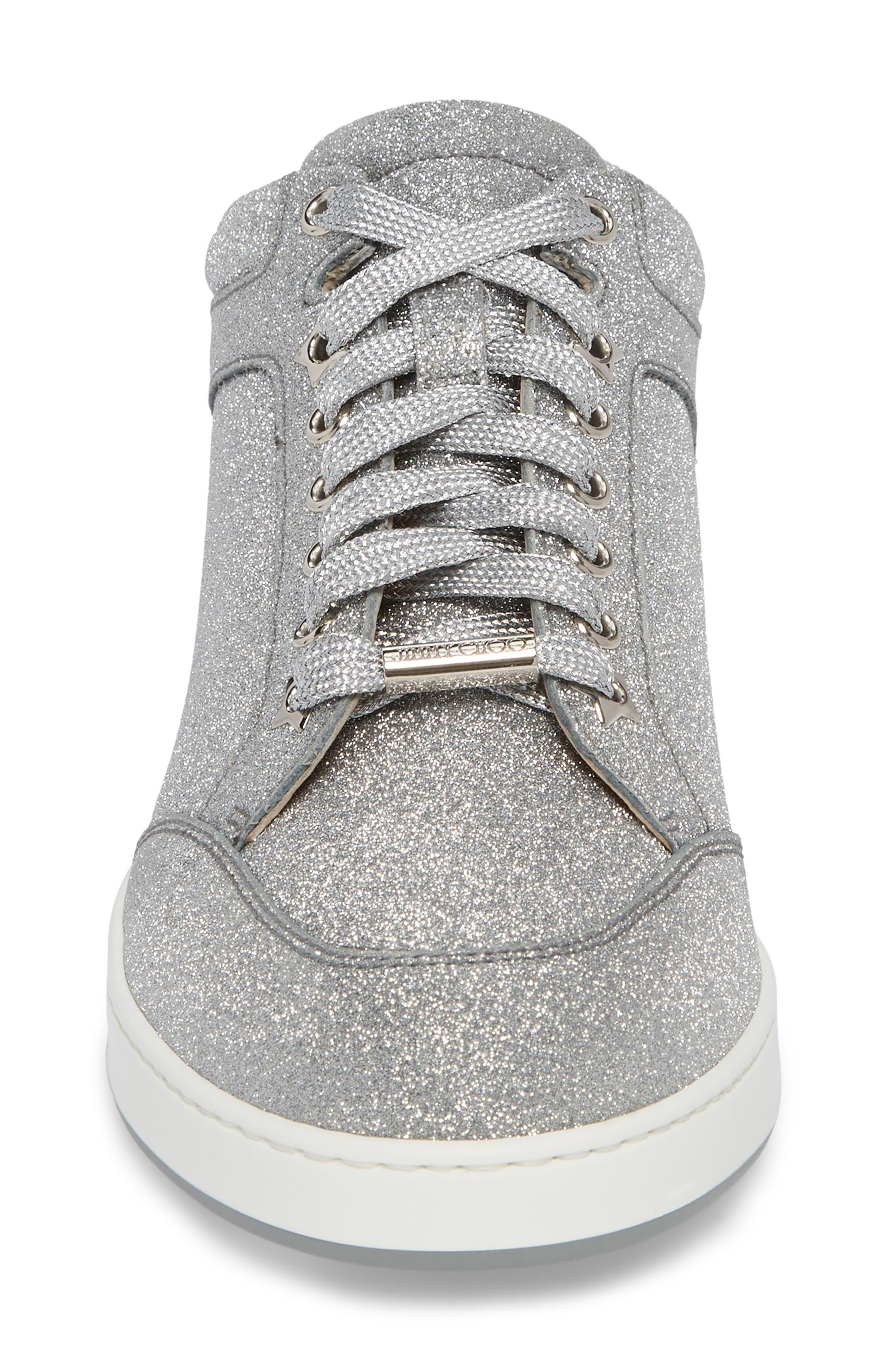 Miami Metallic Sneaker,                             Alternate thumbnail 4, color,                             Silver