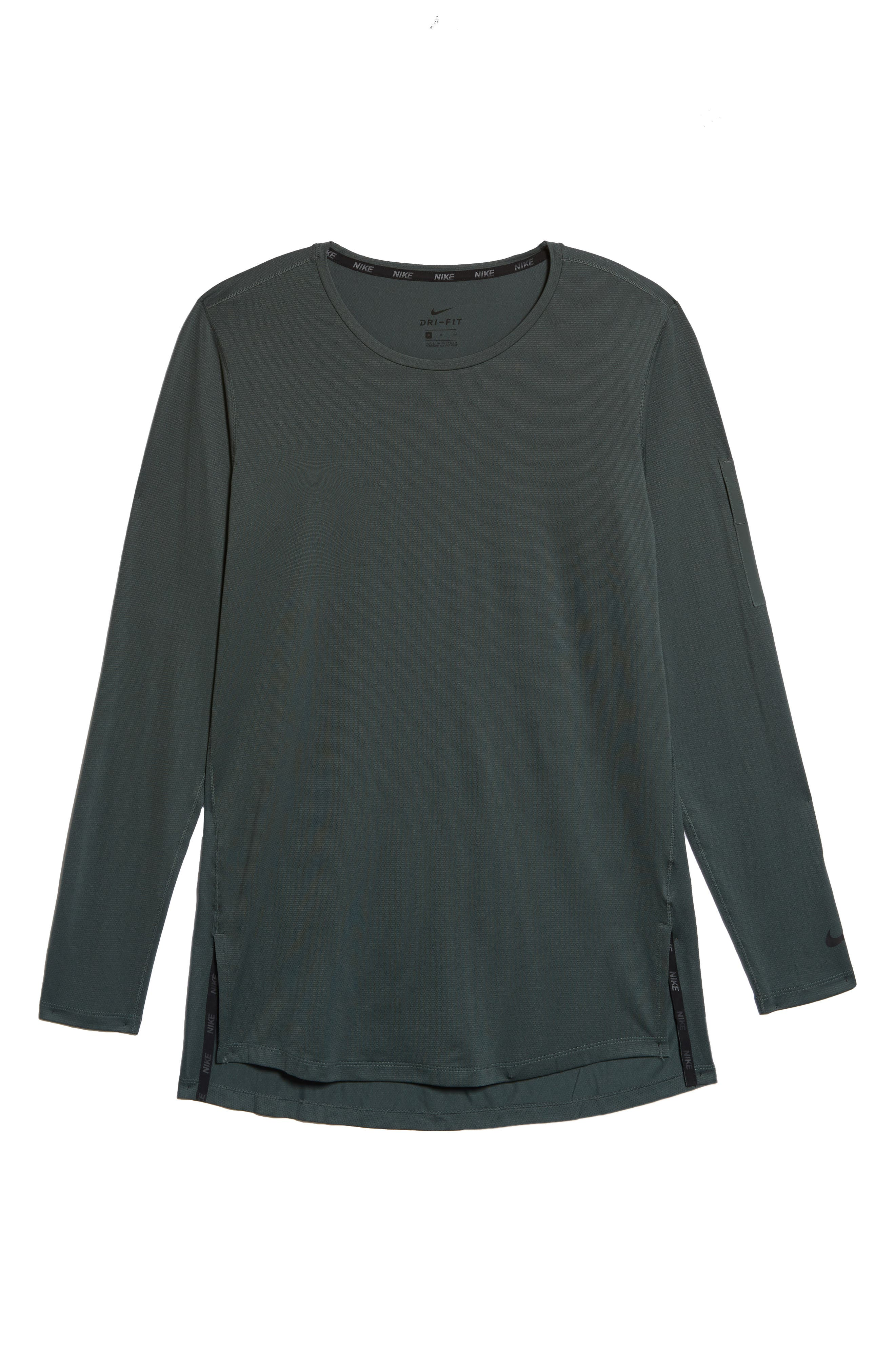 Pro Utility Fitted Training Top,                             Alternate thumbnail 6, color,                             Vintage Green/ Black