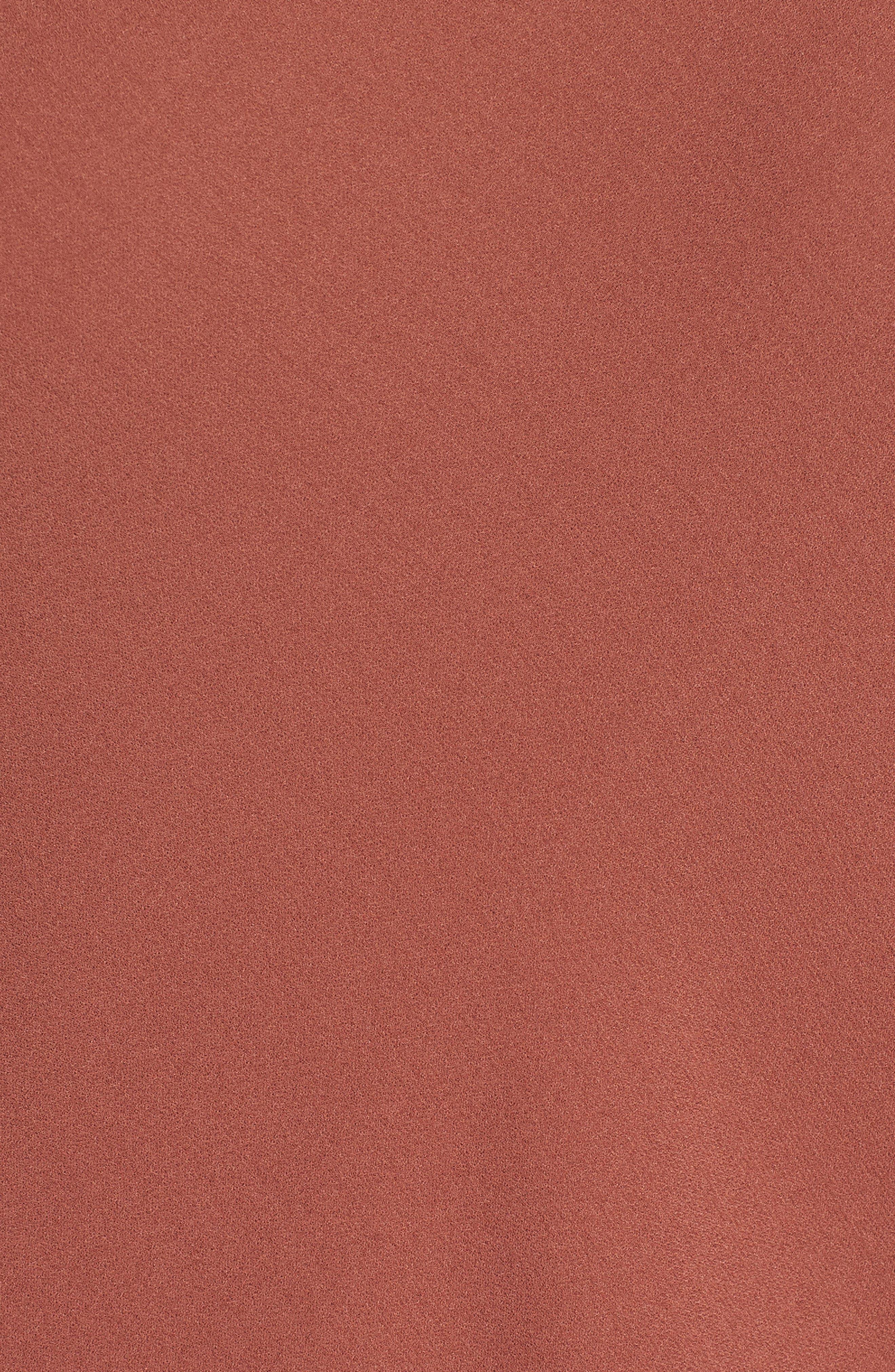 Double Strap Silk Slipdress,                             Alternate thumbnail 6, color,                             Russet