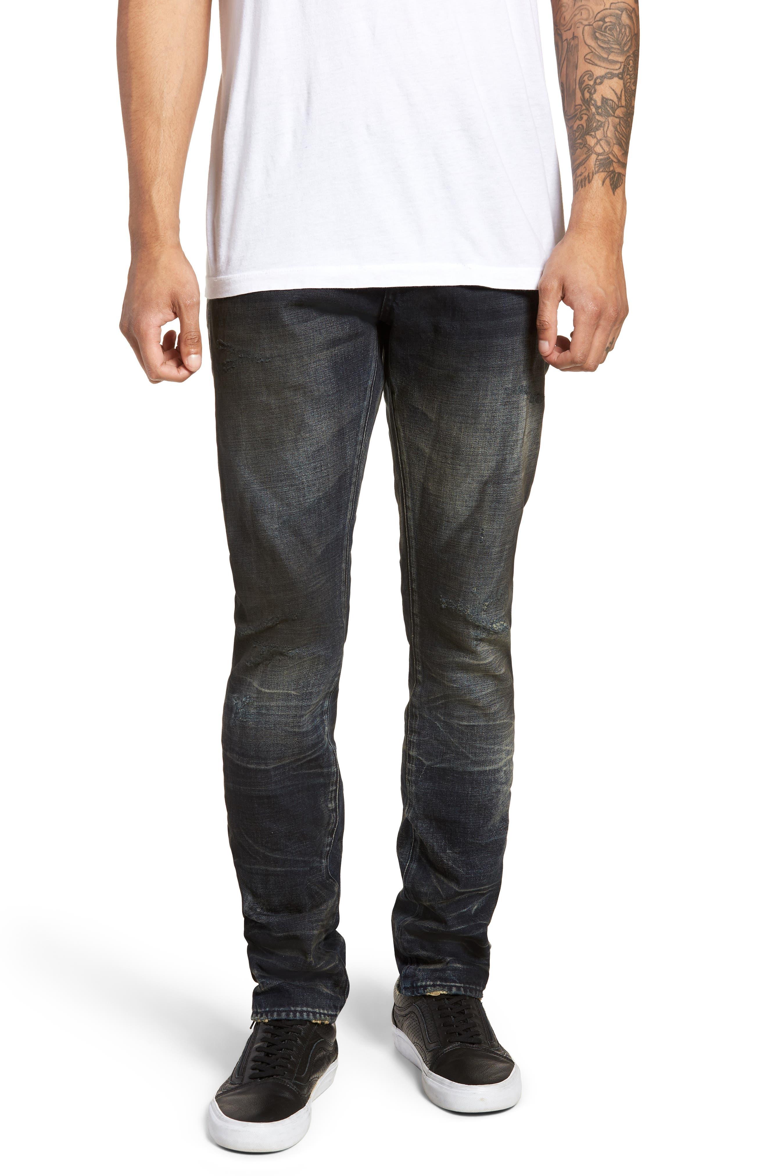 Demon Slim Straight Fit Jeans,                         Main,                         color, Linger