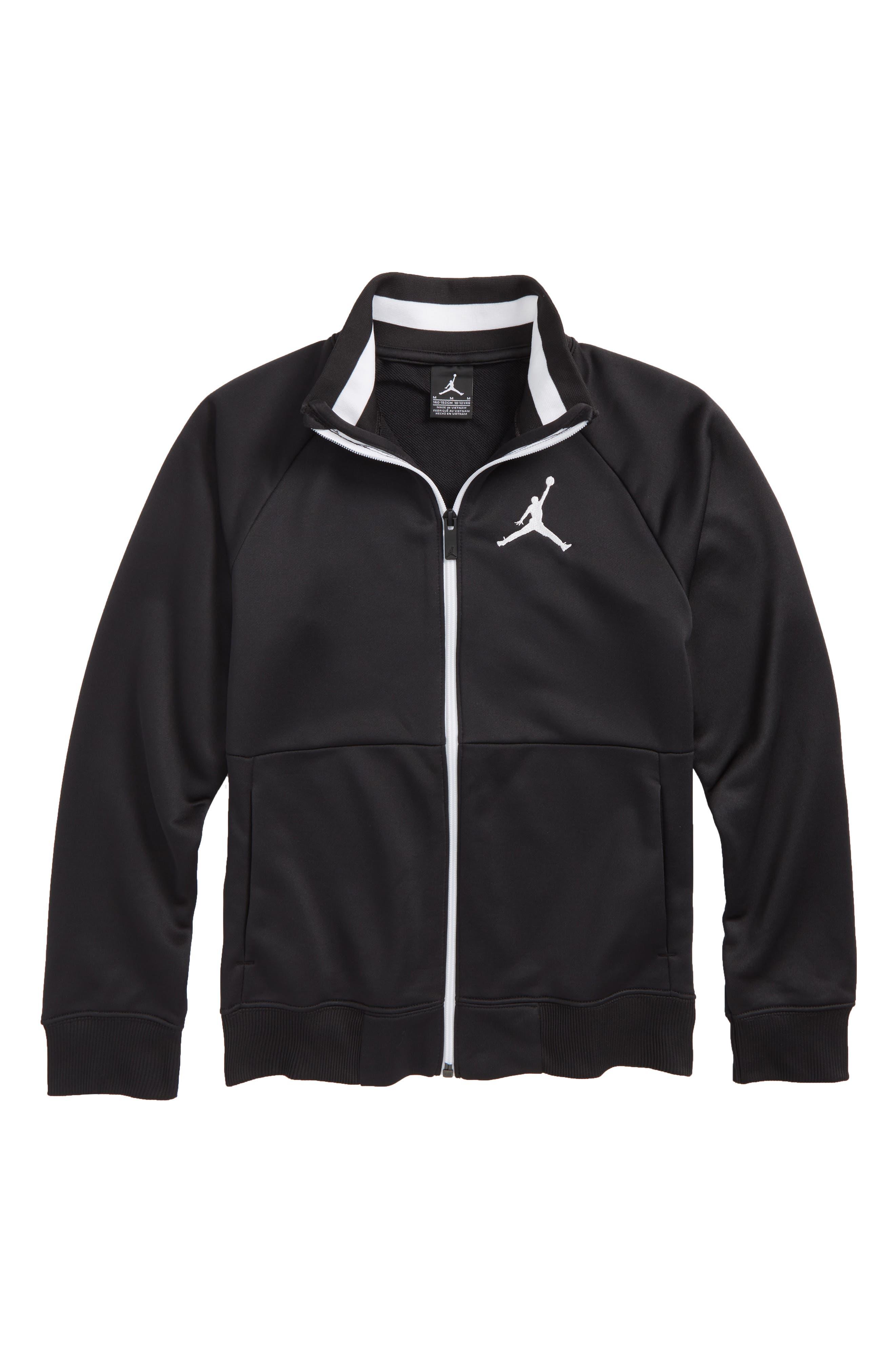 Jordan AJ 90s Tricot Jacket,                             Main thumbnail 1, color,                             Black