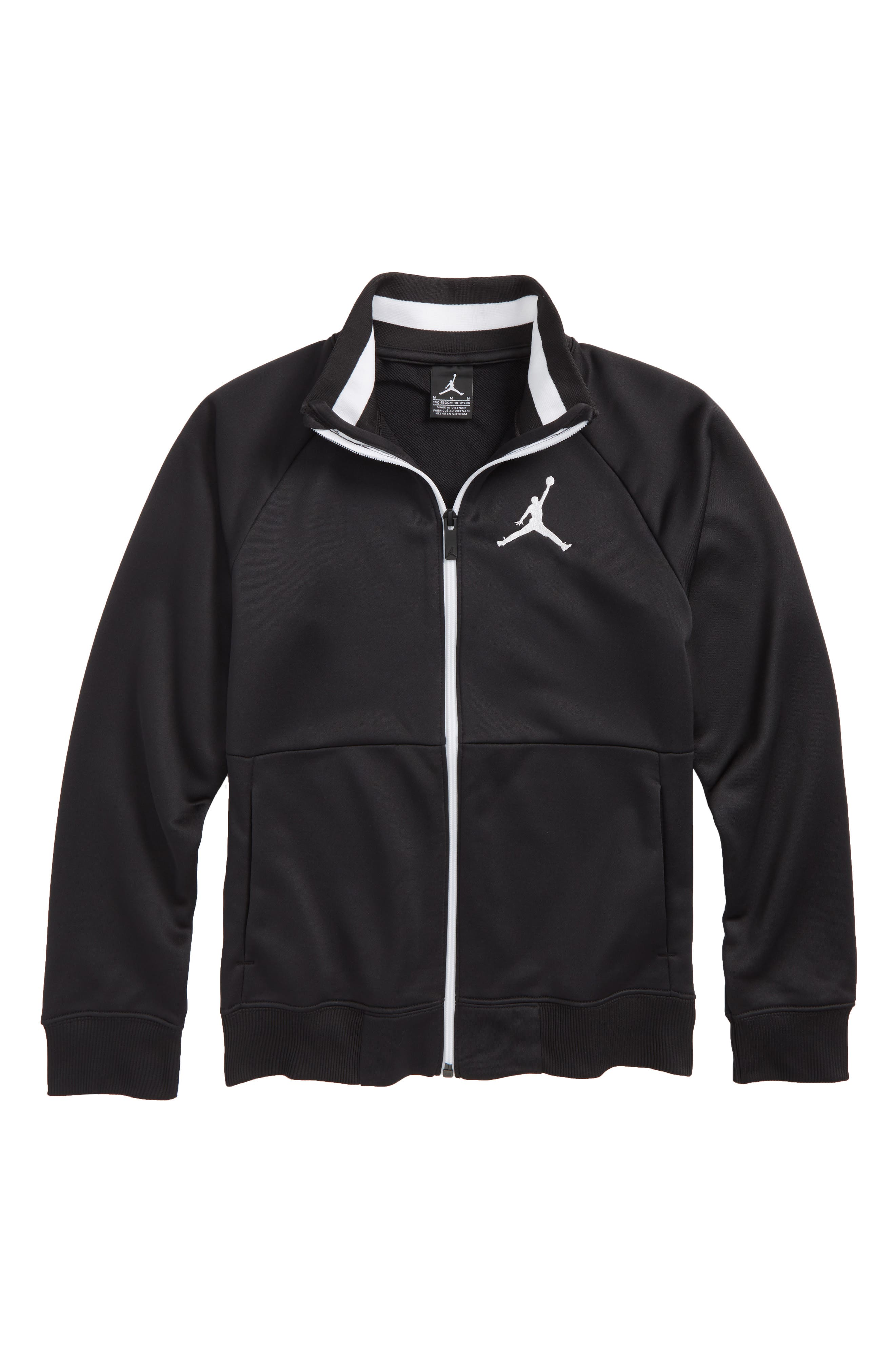 Jordan AJ 90s Tricot Jacket,                         Main,                         color, Black