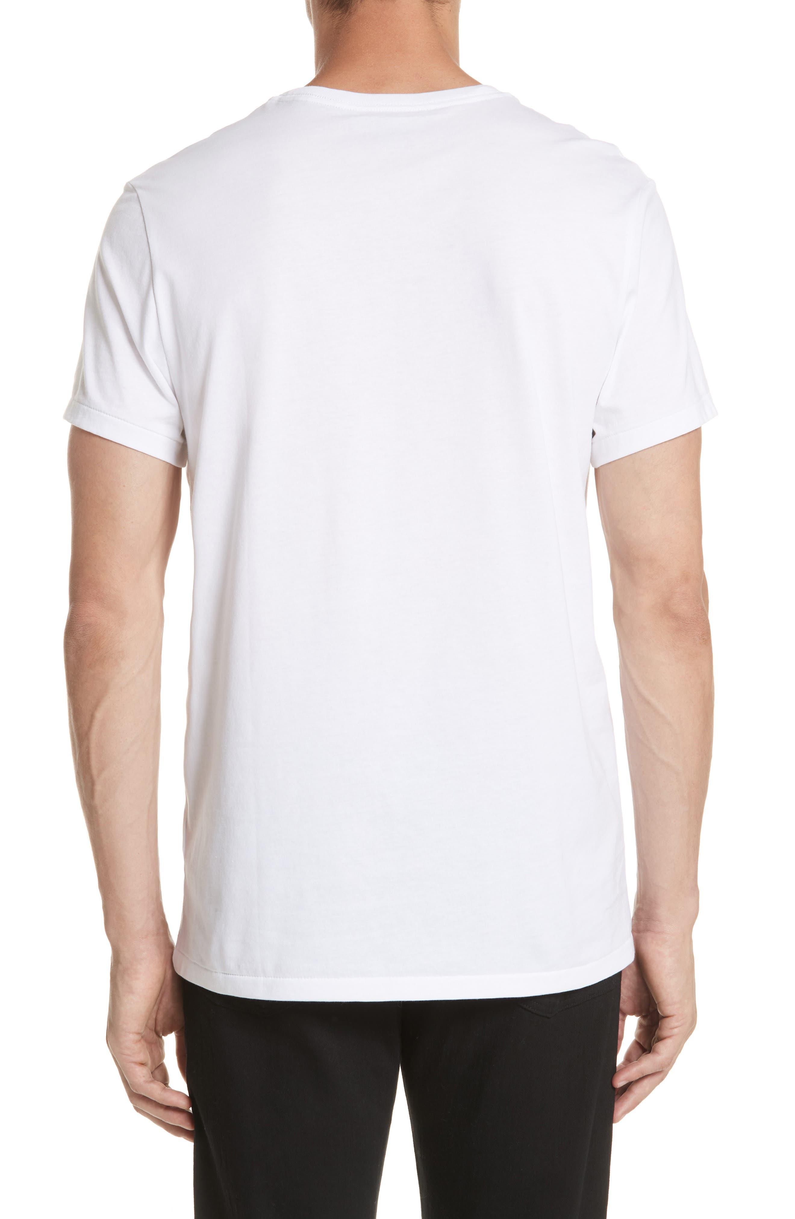 Logo Embroidered Crewneck T-shirt.,                             Alternate thumbnail 2, color,                             White