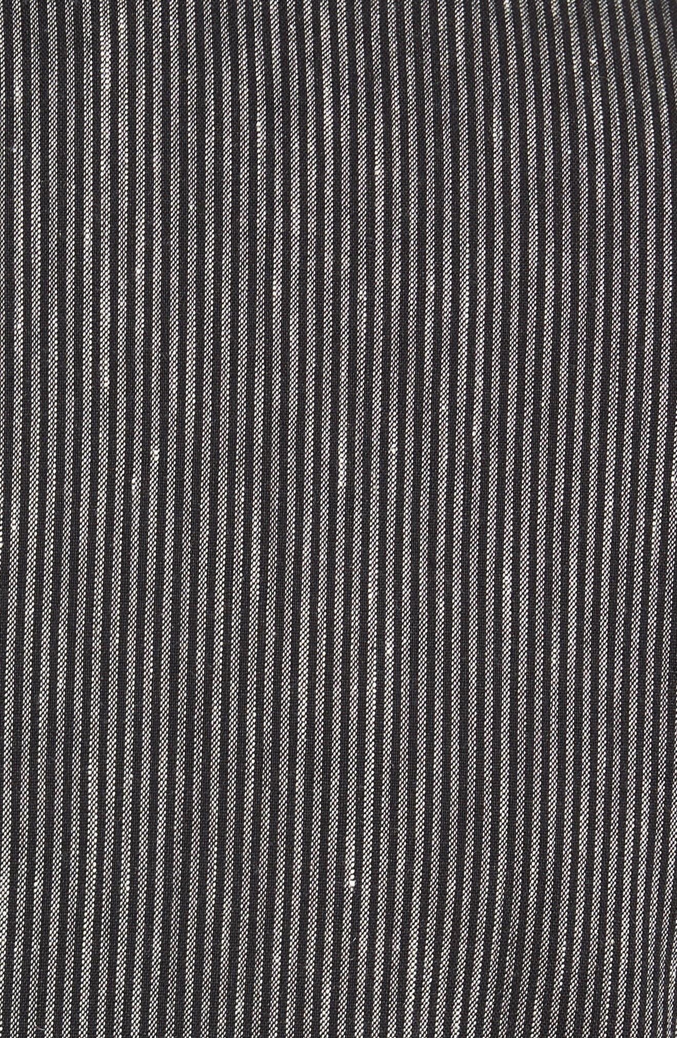 Regular Fit Stretch Stripe Linen Blend Sport Coat,                             Alternate thumbnail 5, color,                             Black/White