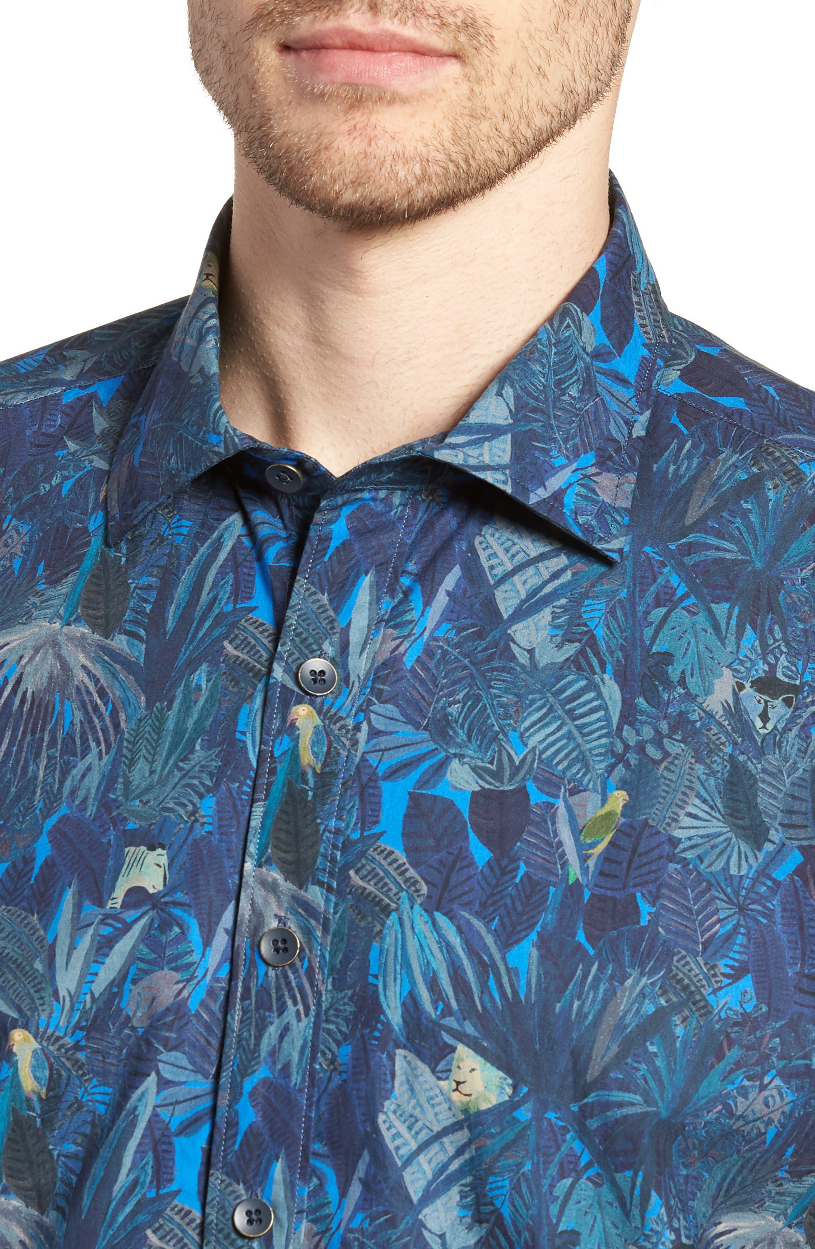 Alternate Image 2  - Rodd & Gunn Chedworth Slim Fit Print Sport Shirt