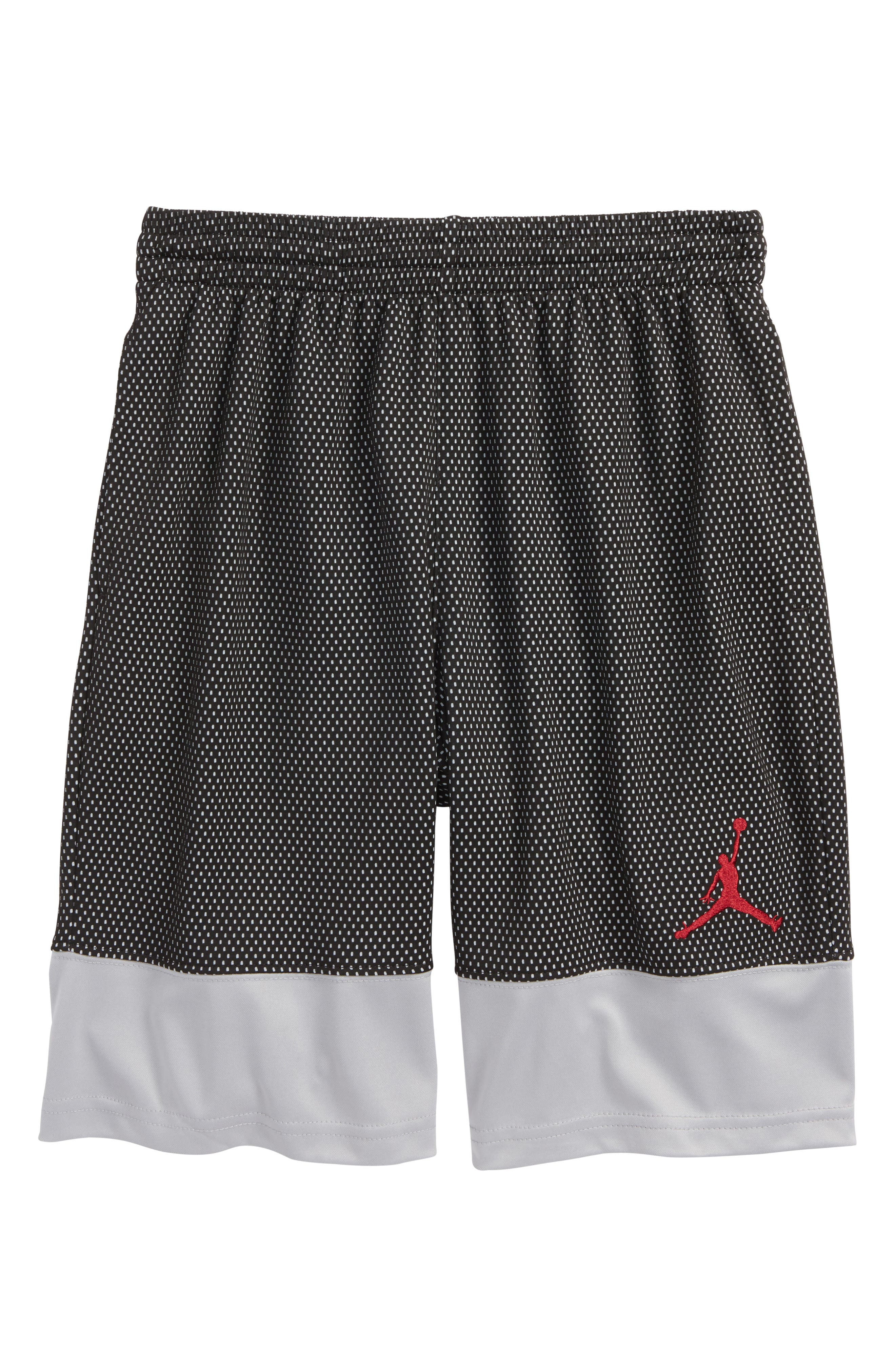 Jordan AJ 90s D2 Mesh Shorts,                         Main,                         color, Black