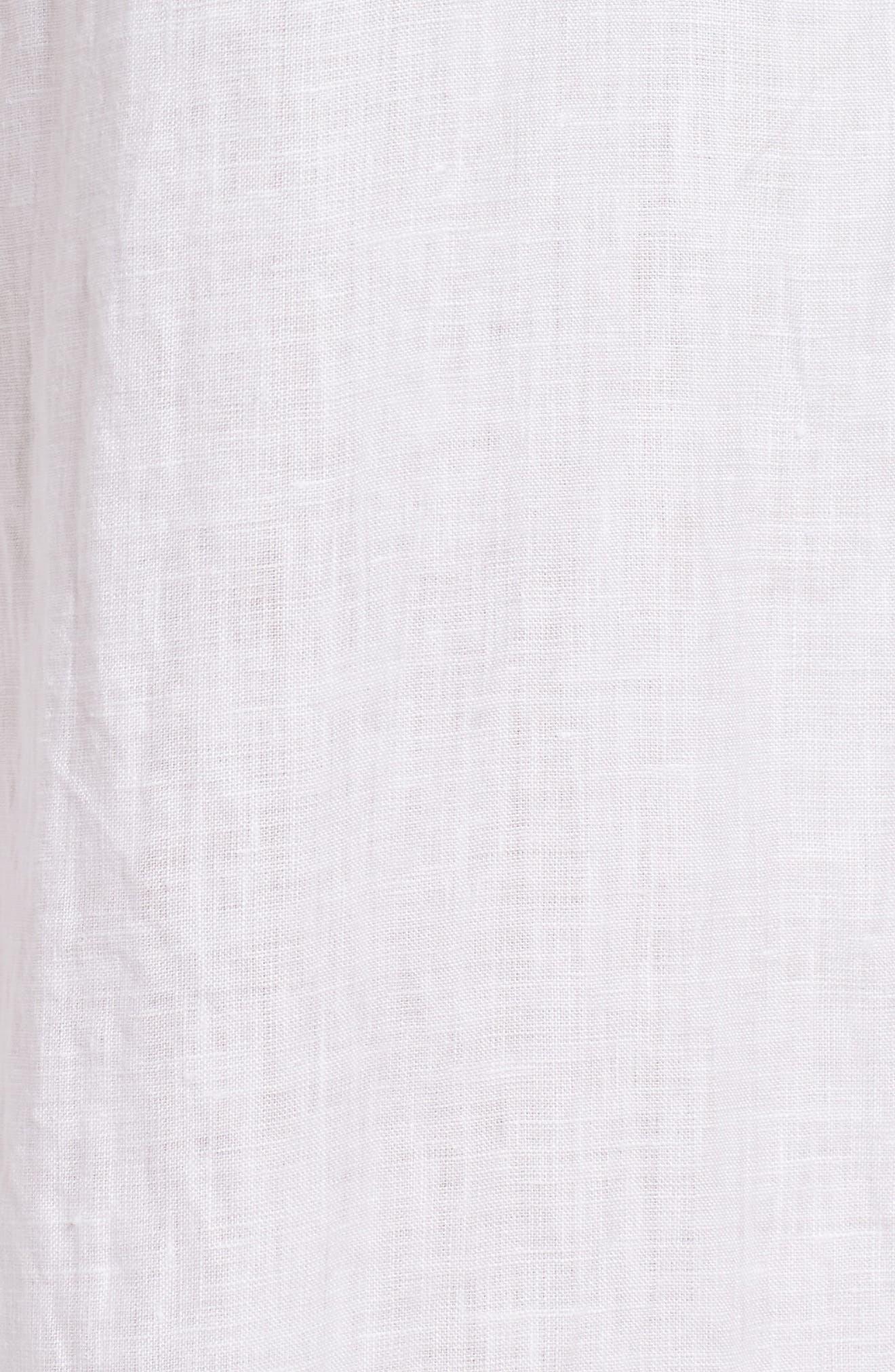 Wide Leg Organic Linen Pants,                             Alternate thumbnail 6, color,                             White