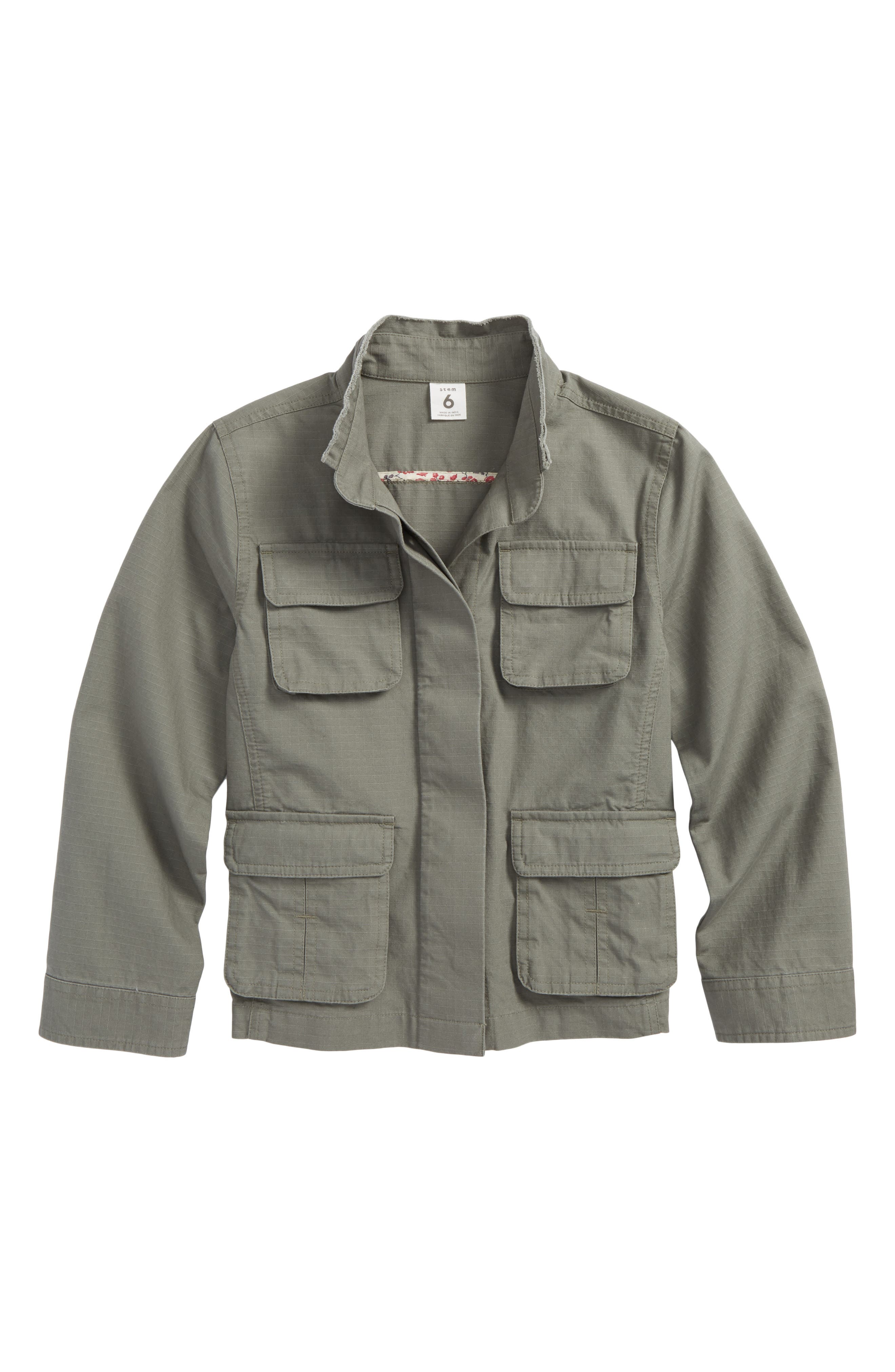 Canvas Utility Jacket,                         Main,                         color, Green Agave