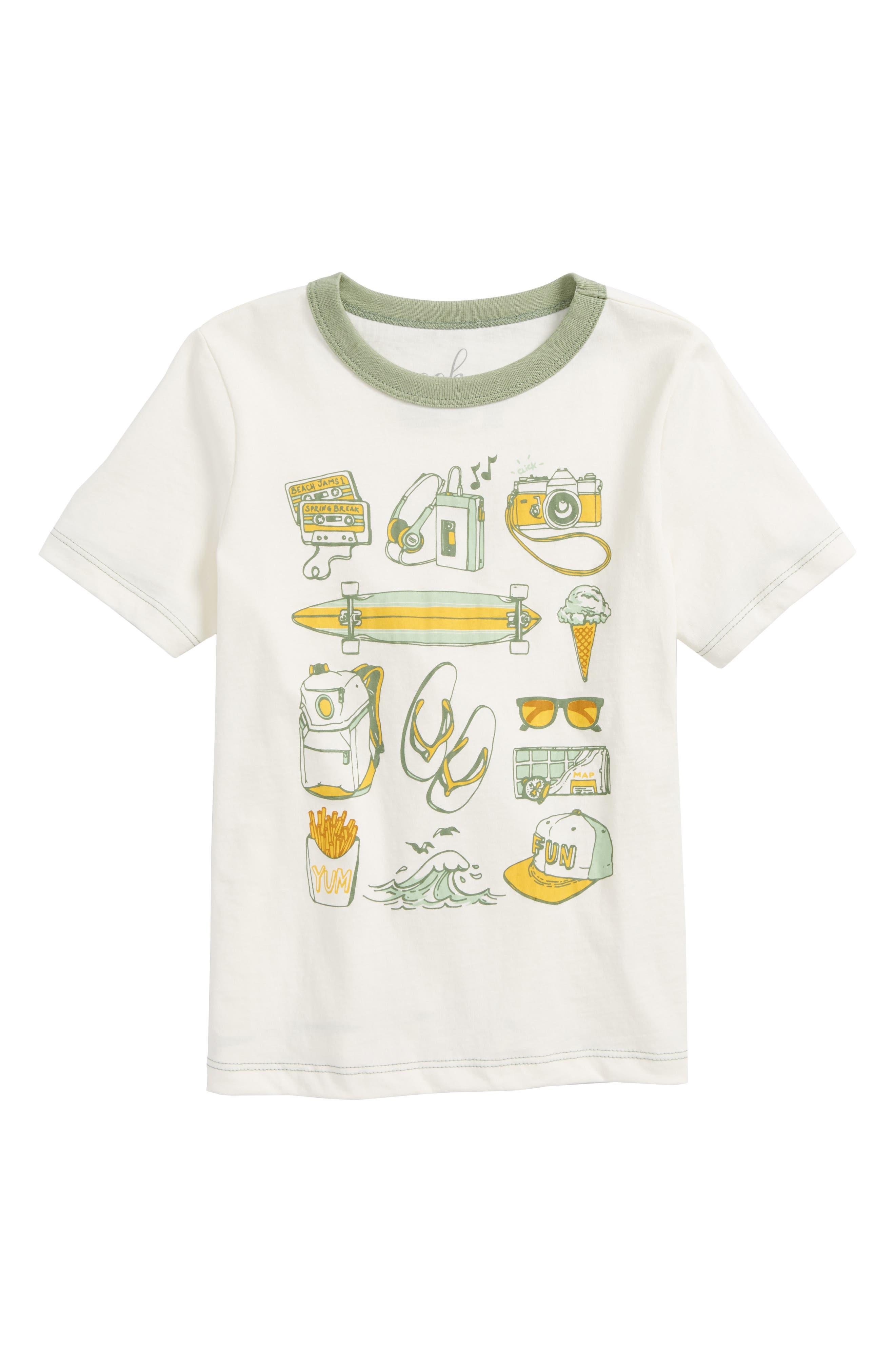Spring Break Checklist T-Shirt,                             Main thumbnail 1, color,                             Ivory