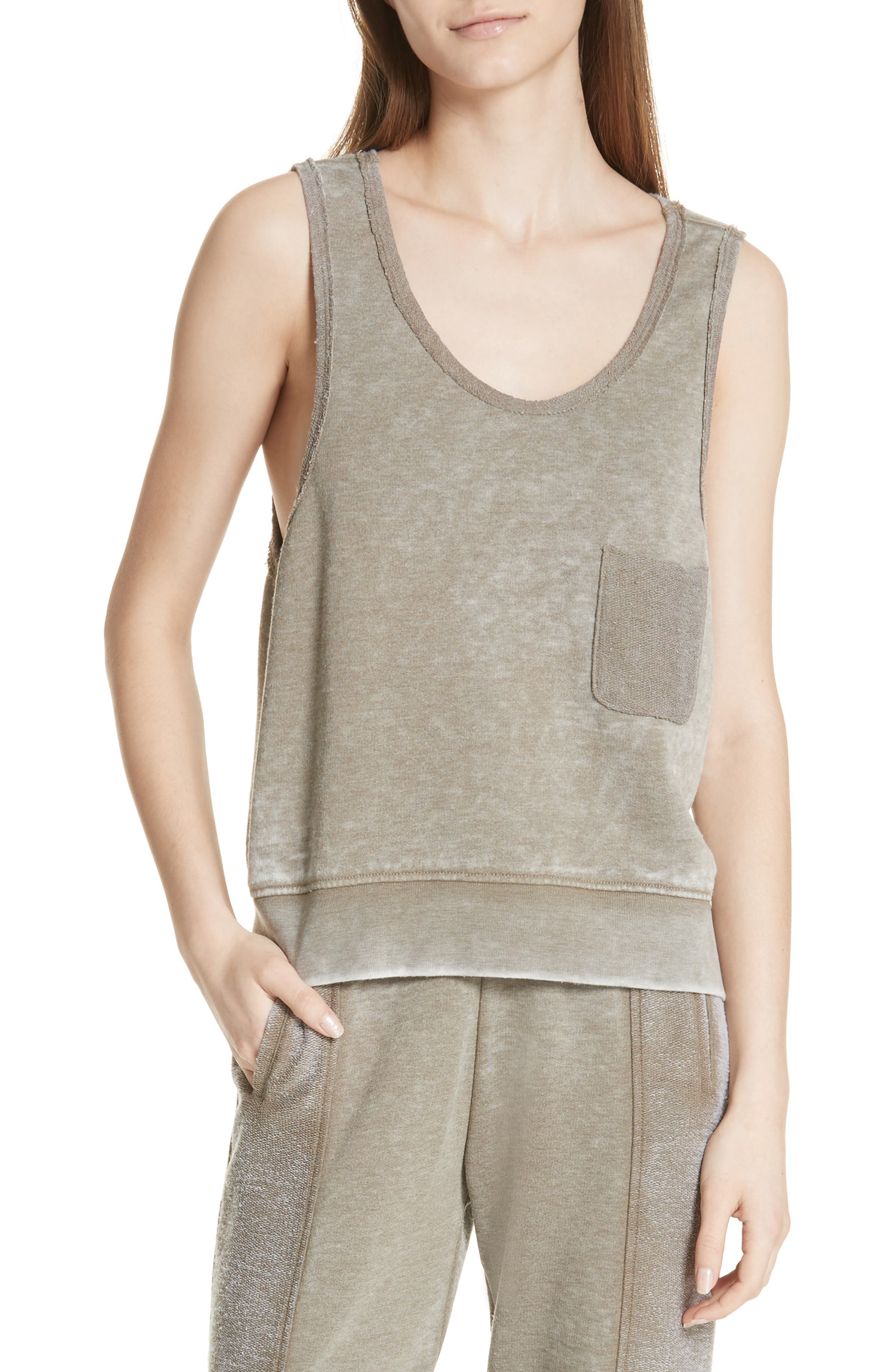 ATM Anthony Thomas Melillo Sun Bleached French Terry Top