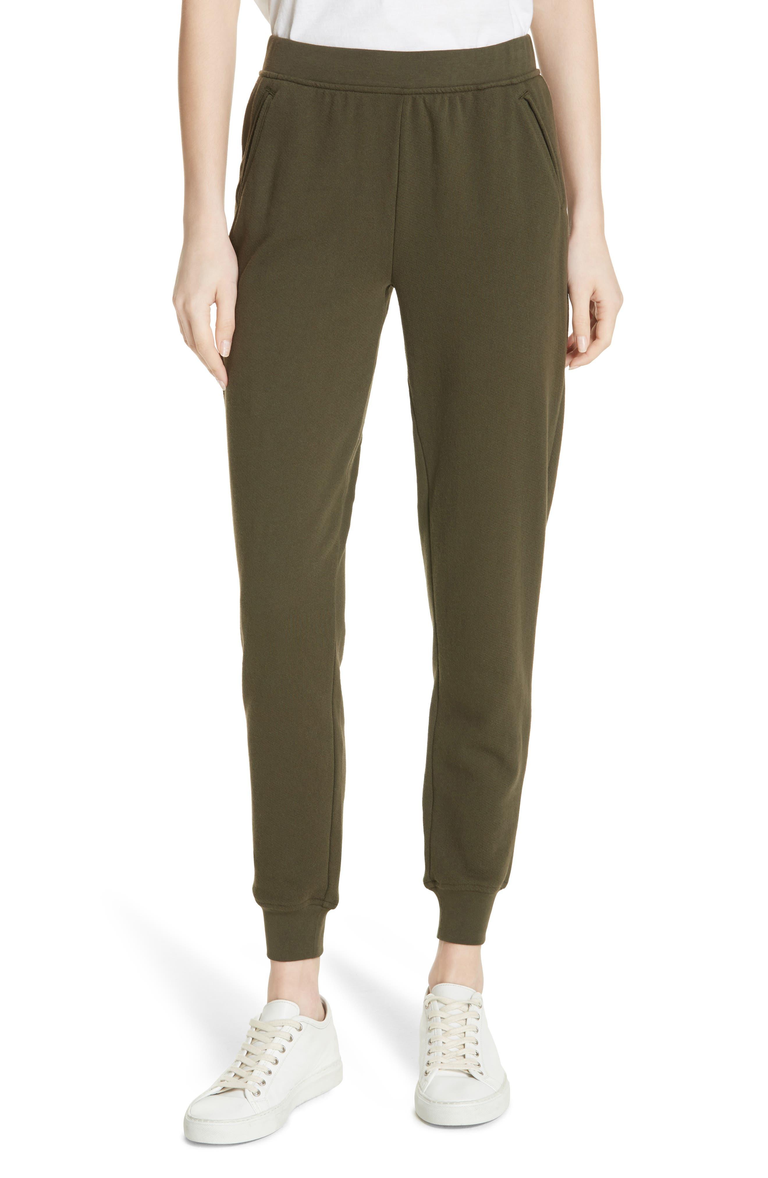 Slim Sweatpants,                         Main,                         color, Pine