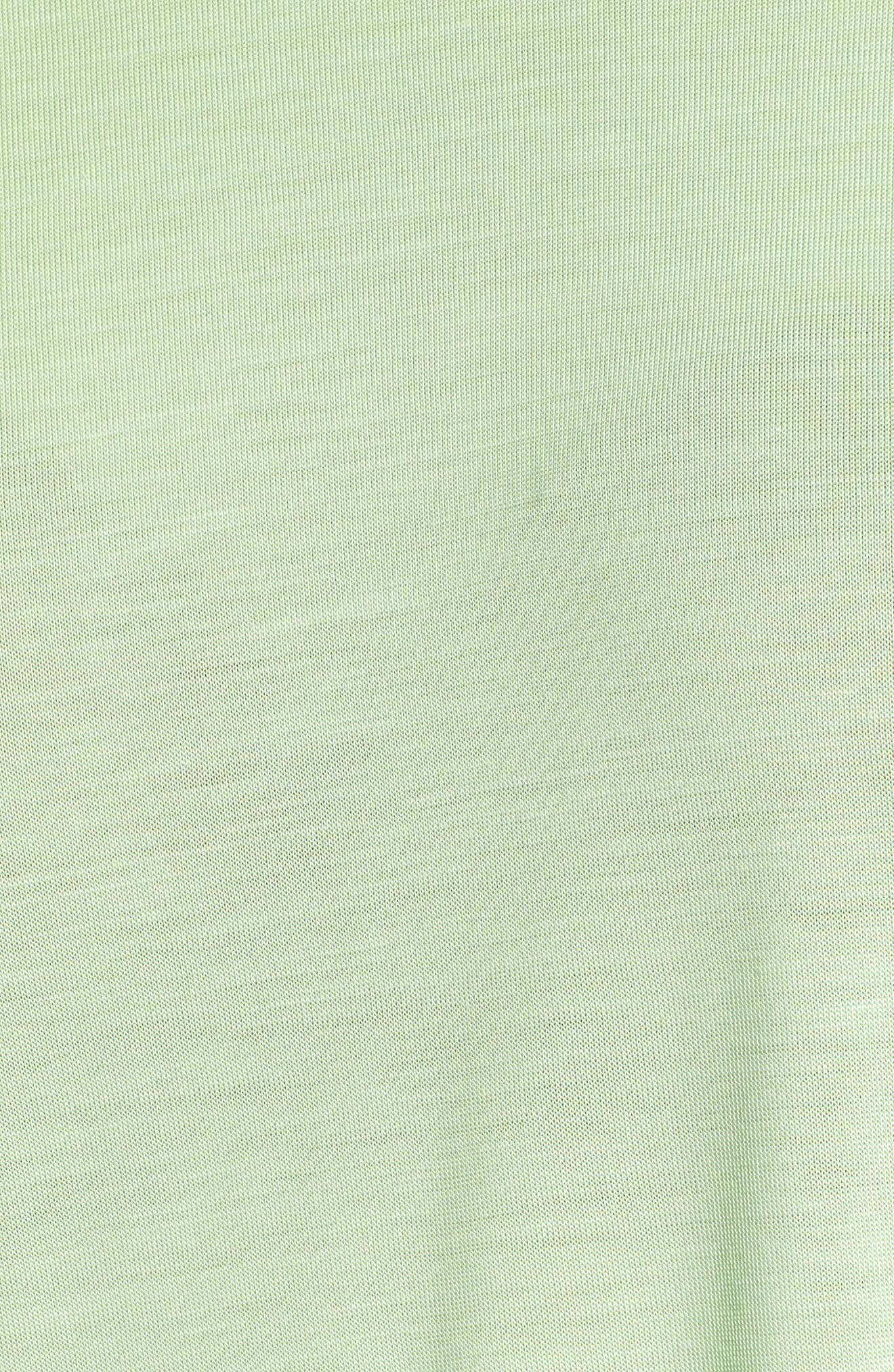 Lyocell Long Sleeve T-Shirt,                             Alternate thumbnail 4, color,                             Lime