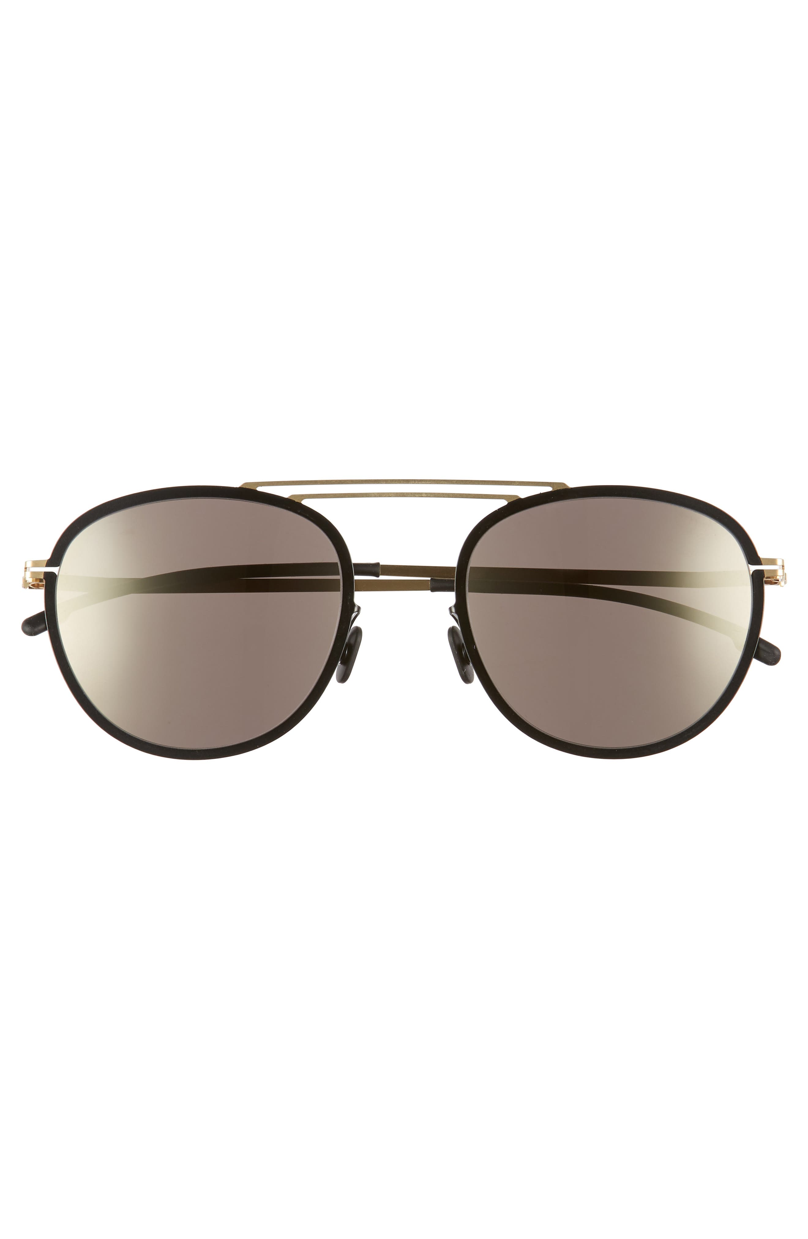 Luigi 52mm Aviator Sunglasses,                             Alternate thumbnail 2, color,                             Gold/ Jet Black