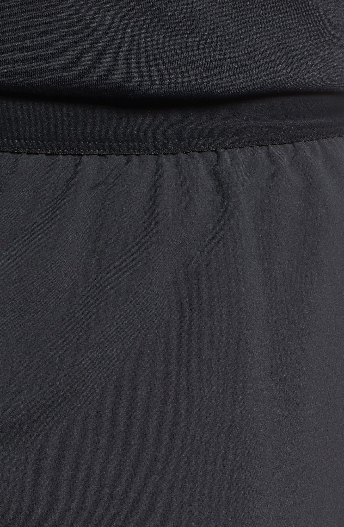 Flex Distance Running Shorts,                             Alternate thumbnail 4, color,                             Black/ Black