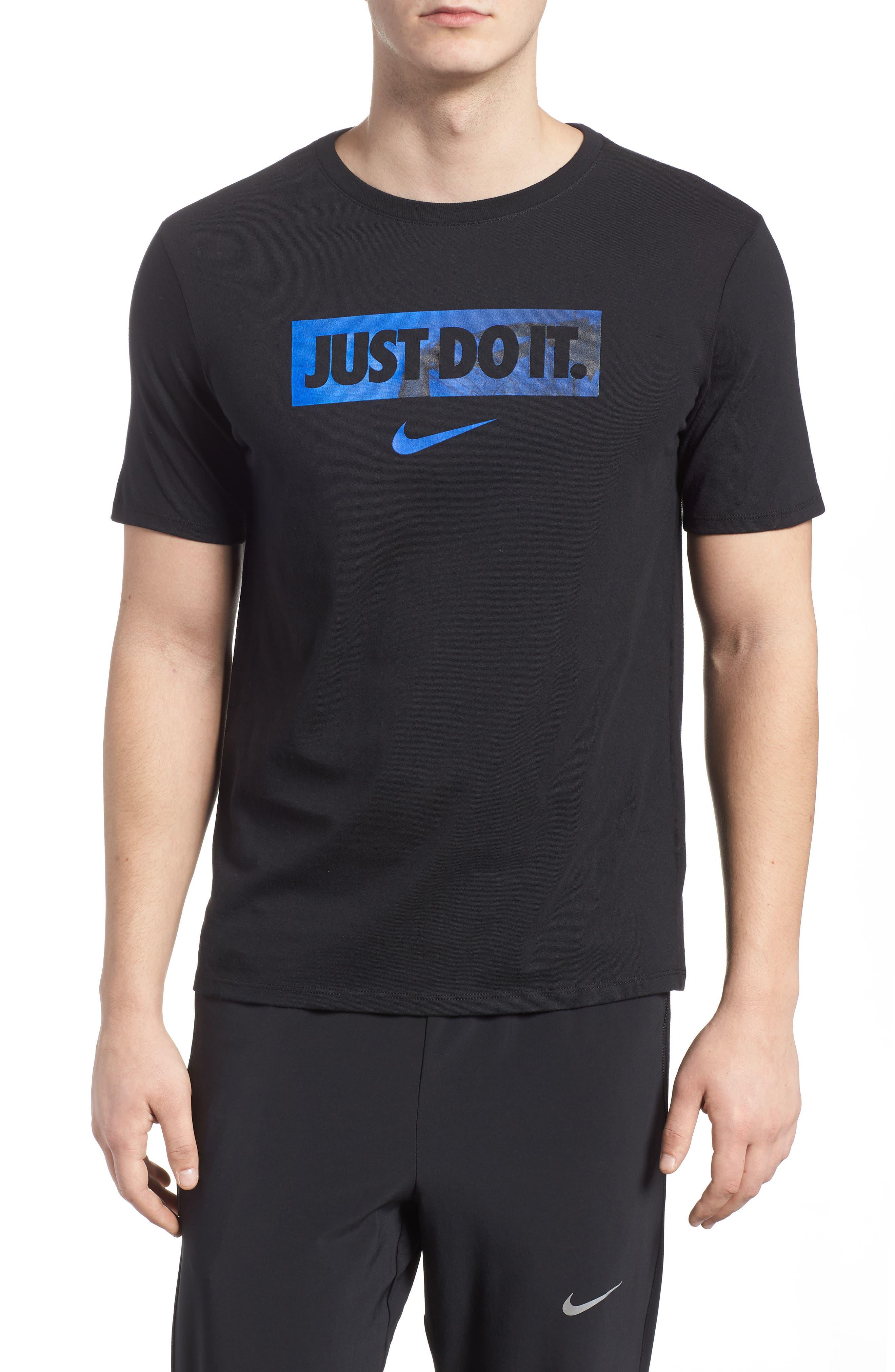 Dry Hoops T-Shirt,                             Main thumbnail 1, color,                             Black/ White