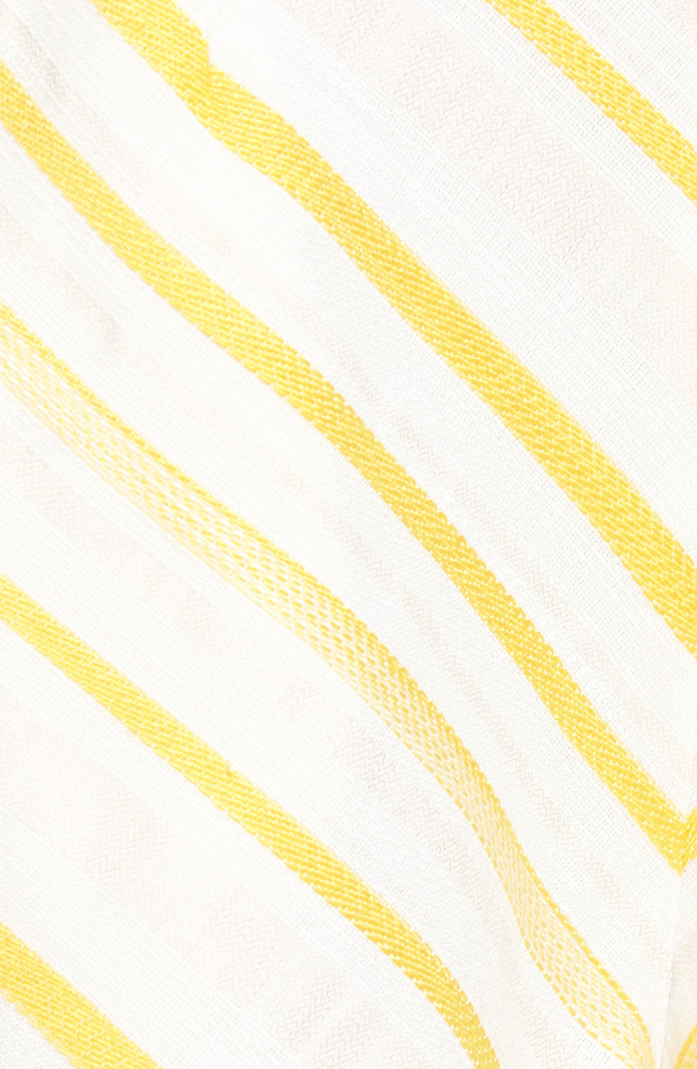 Scallop Shorts,                             Alternate thumbnail 5, color,                             Cream Yellow