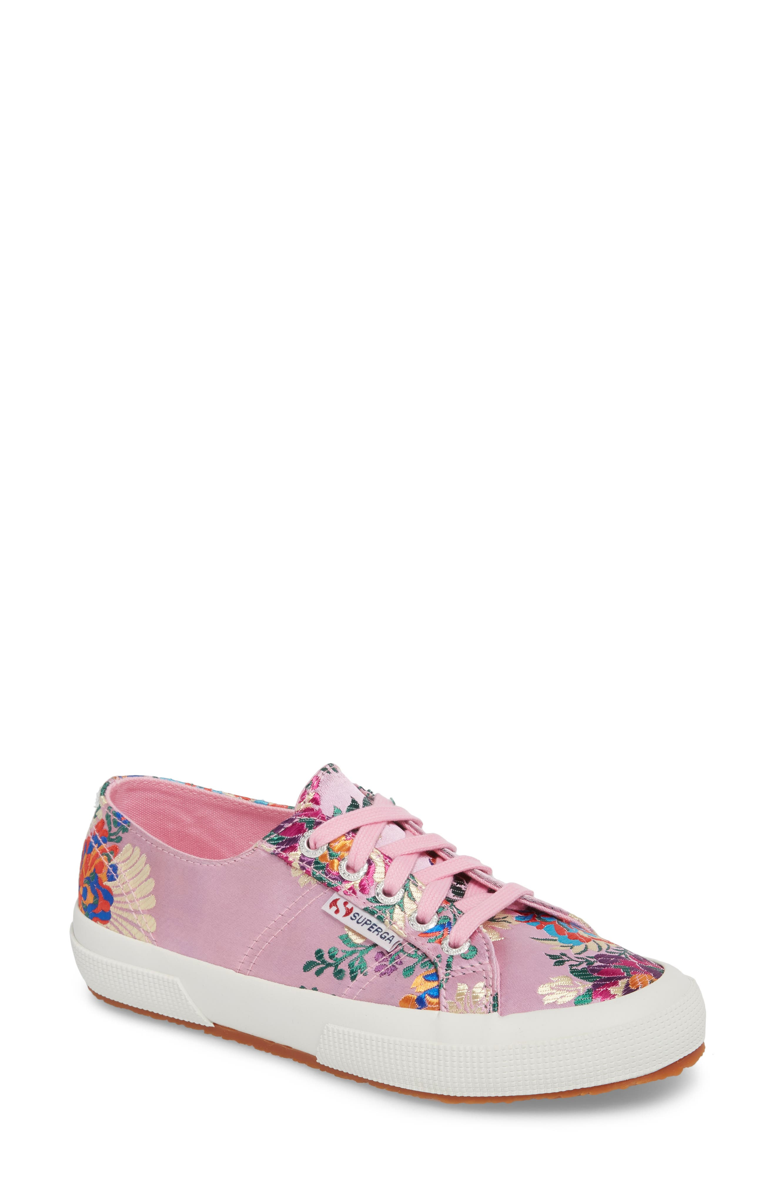 2750 Embroidered Sneaker,                             Main thumbnail 1, color,                             Pink