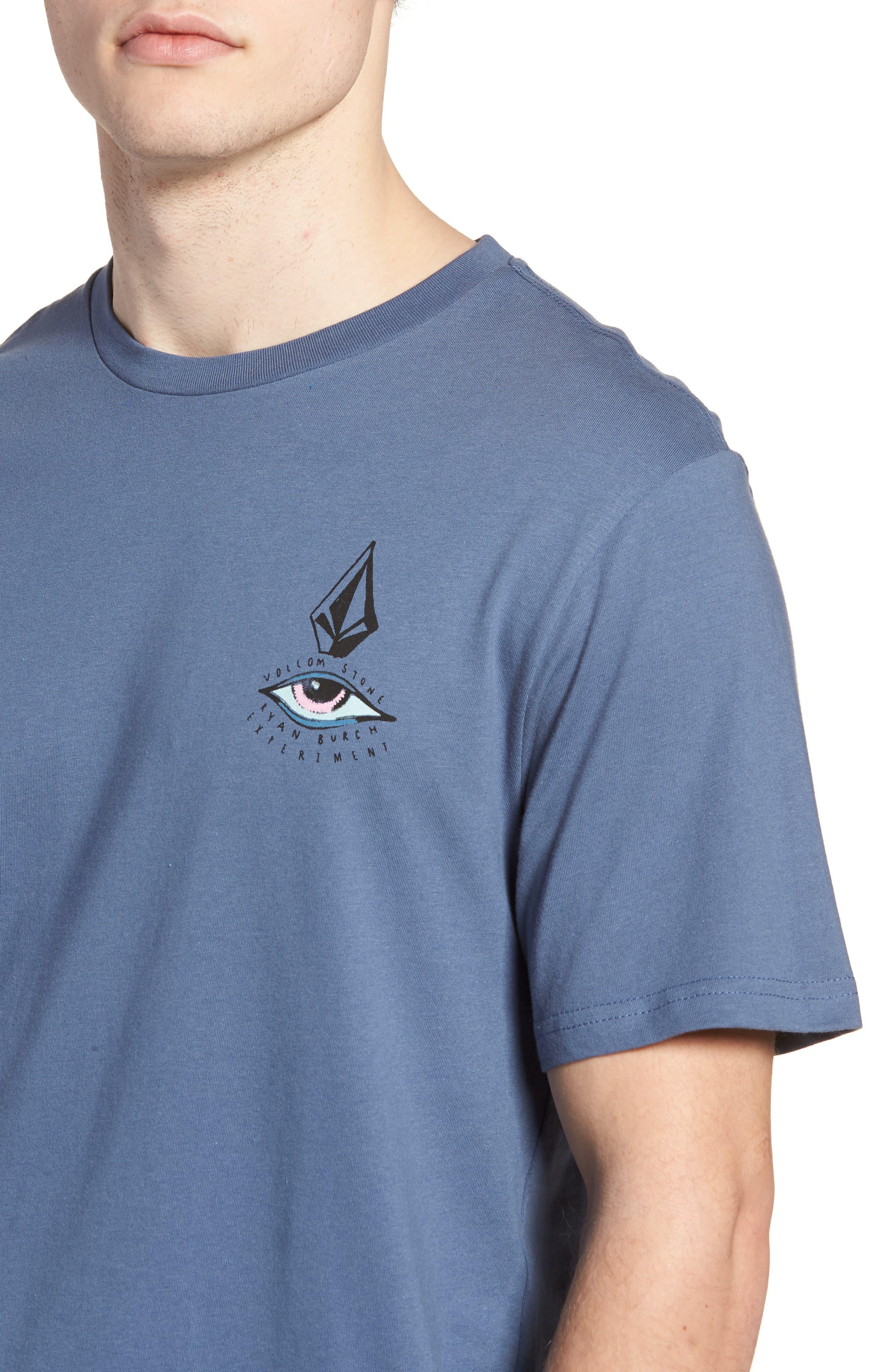 Burch Eye Graphic T-Shirt,                             Alternate thumbnail 4, color,                             Deep Blue