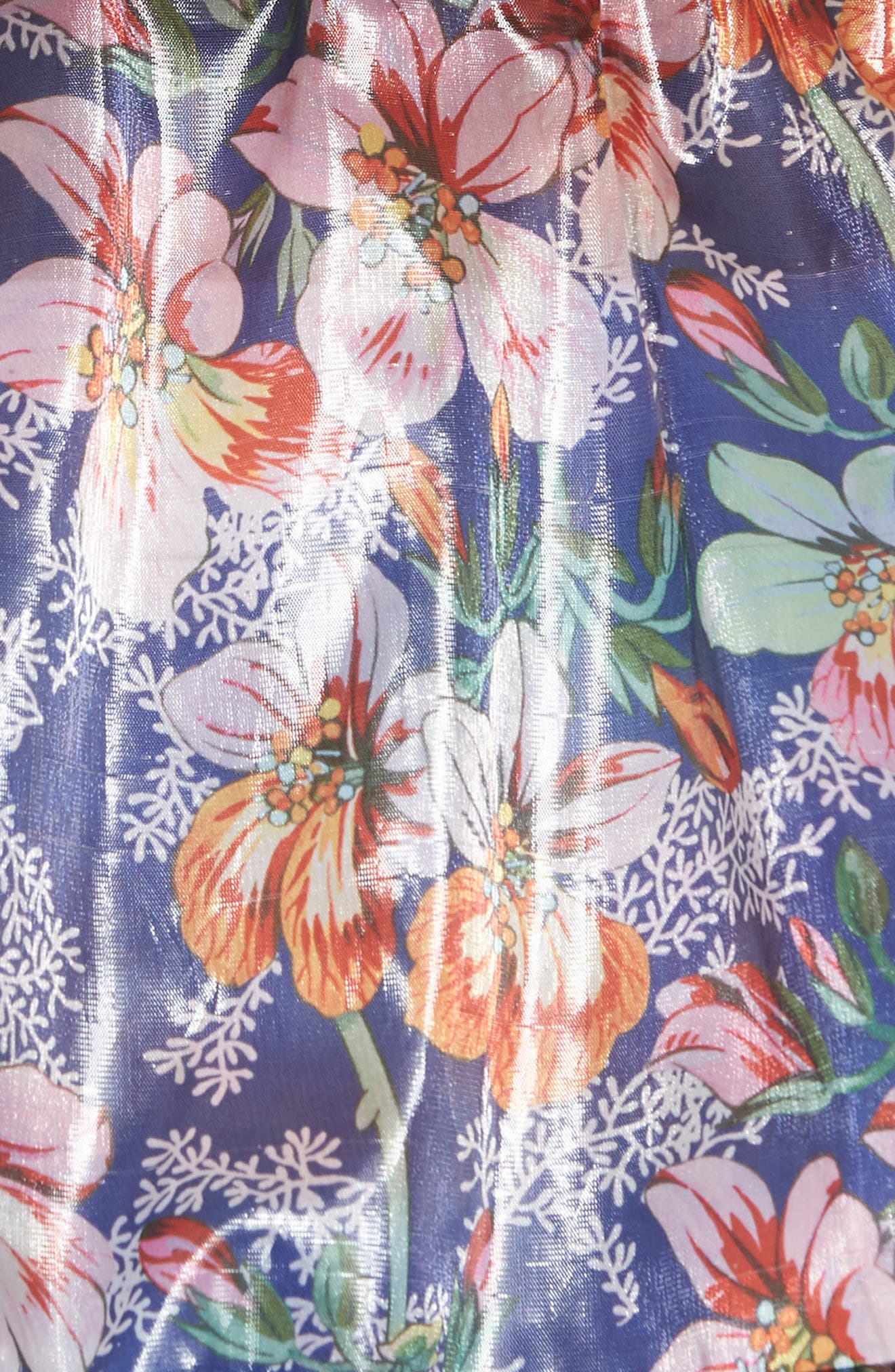 Metallic Blossom Windbreaker,                             Alternate thumbnail 5, color,                             Midnight
