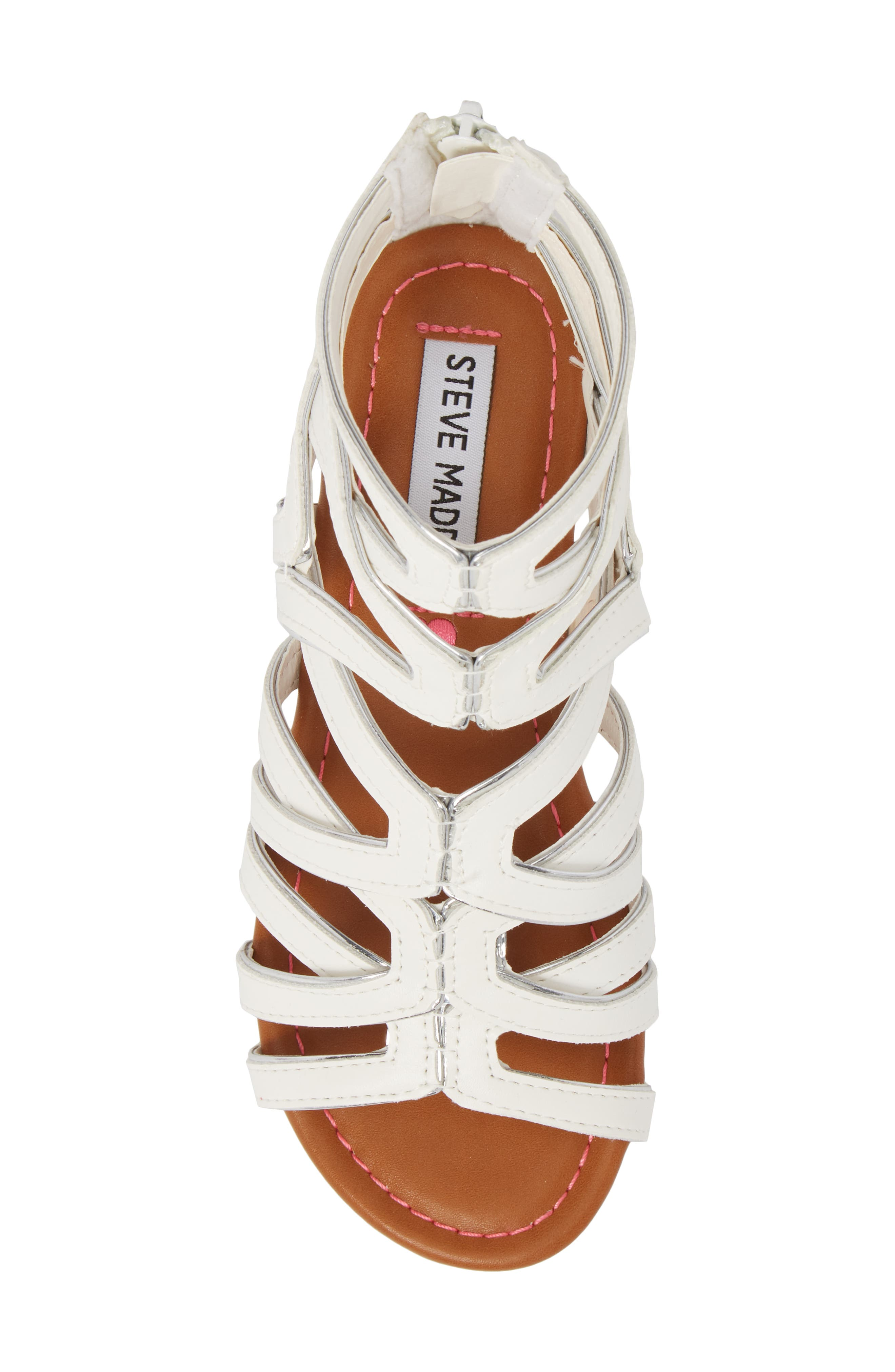 Jessence Gladiator Sandal,                             Alternate thumbnail 5, color,                             White