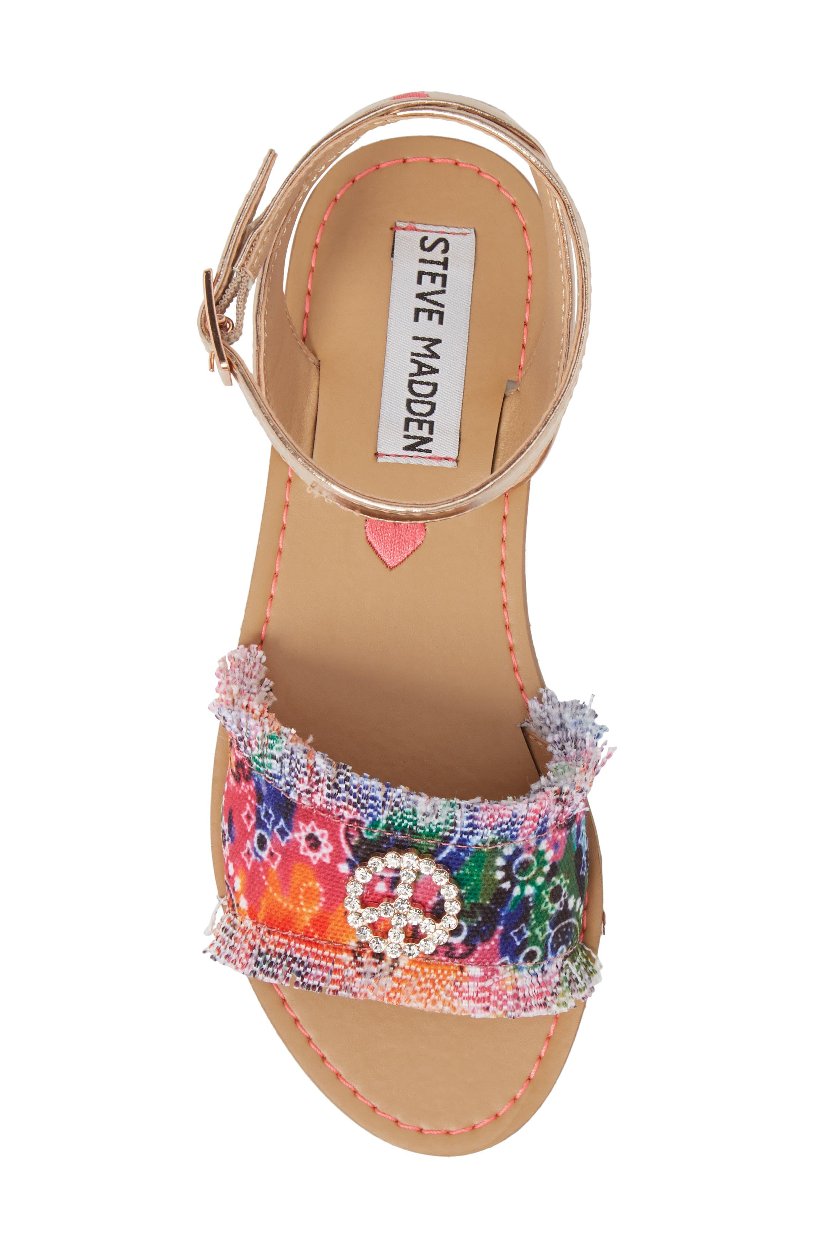 JVILLA Ankle Strap Sandal,                             Alternate thumbnail 5, color,                             Tie Dye